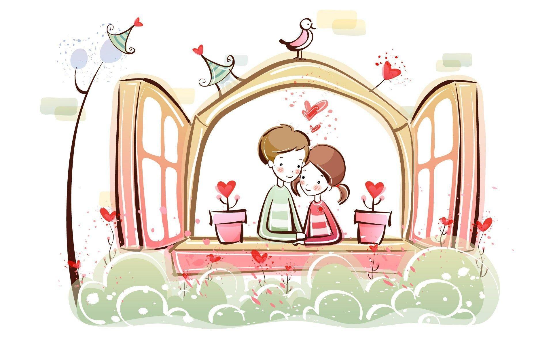 Love Cartoon Wallpapers Top Free Love Cartoon Backgrounds Wallpaperaccess