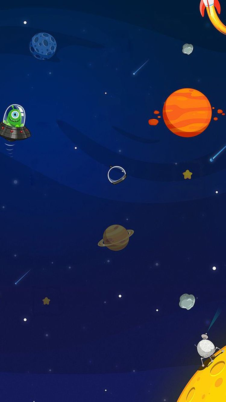 Cartoon Space Wallpapers Top Free Cartoon Space Backgrounds Wallpaperaccess