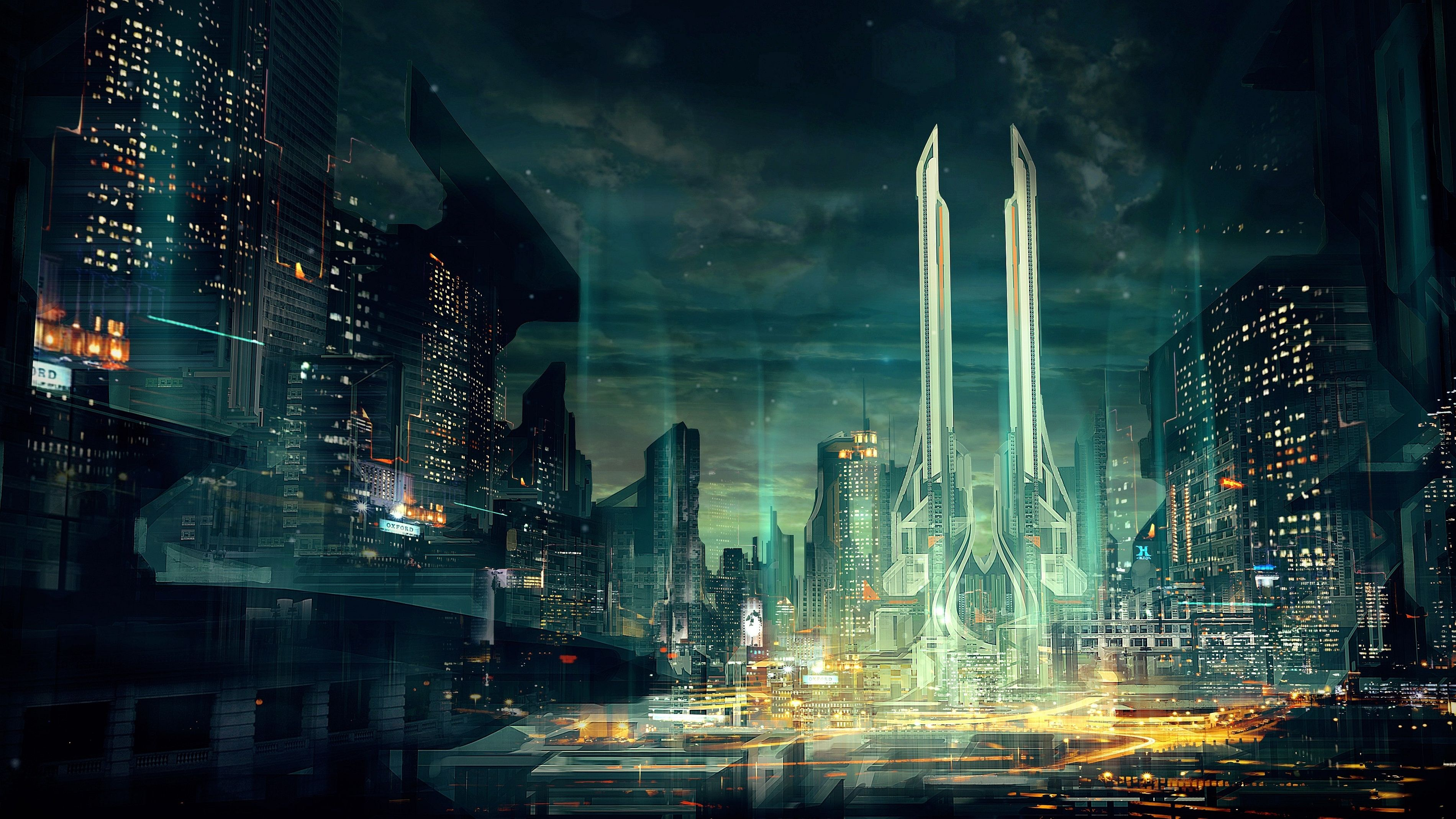 Sci Fi City Wallpapers Top Free Sci Fi City Backgrounds Wallpaperaccess