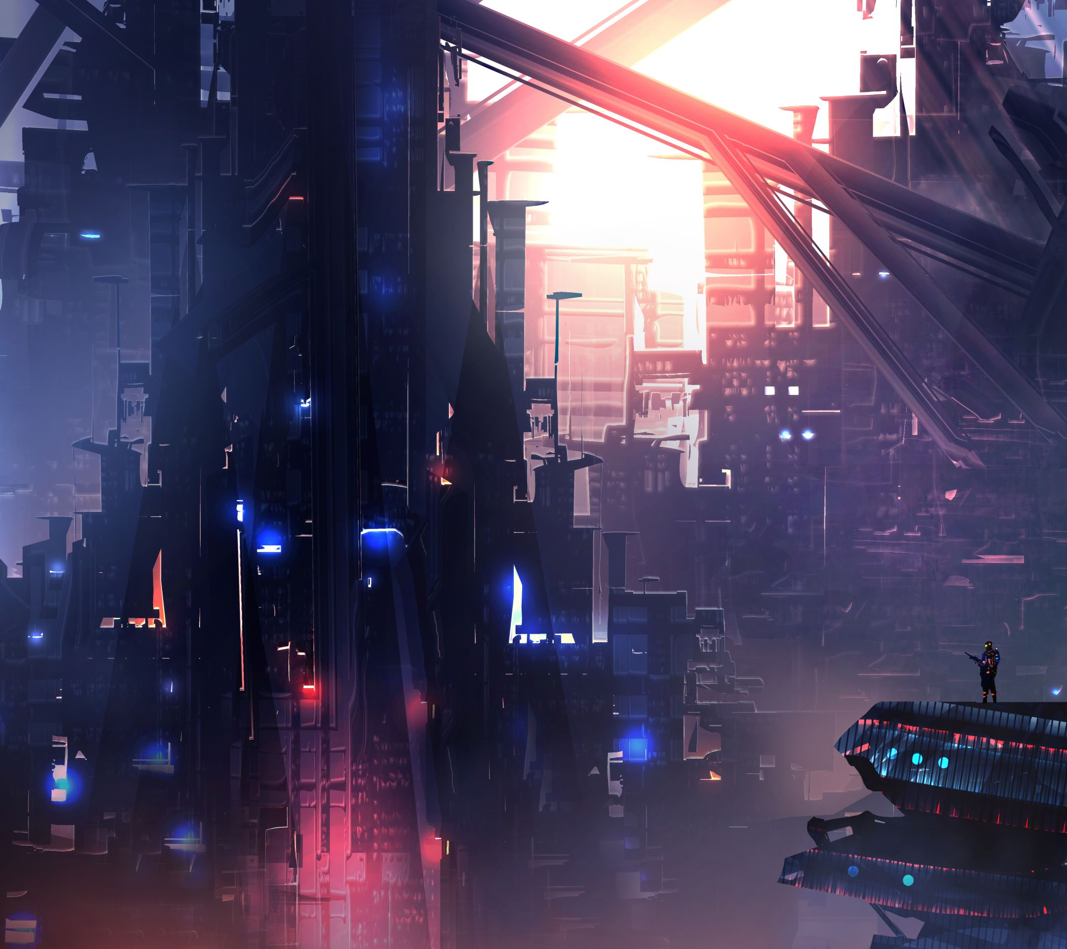 Top Free Sci-Fi City Backgrounds