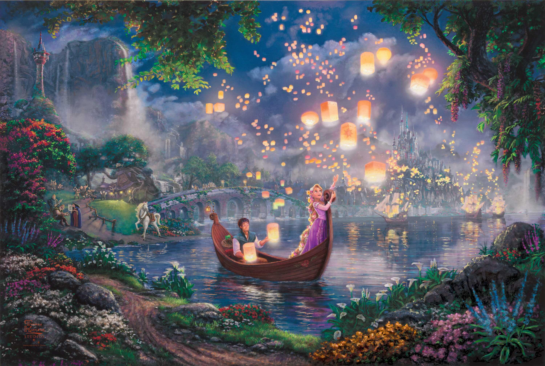 Hình nền Disney 3000x2017 Thomas Kinkade