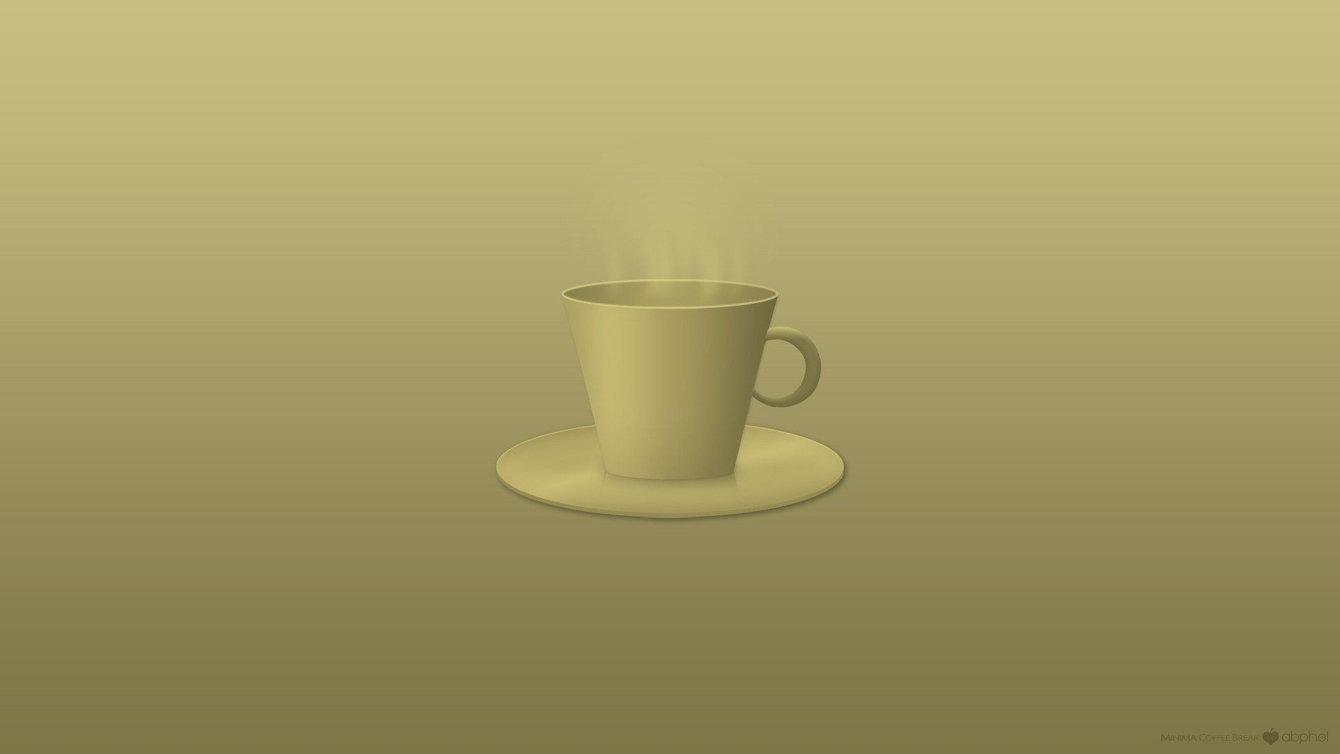 Minimalist Desktop Coffee Wallpaper