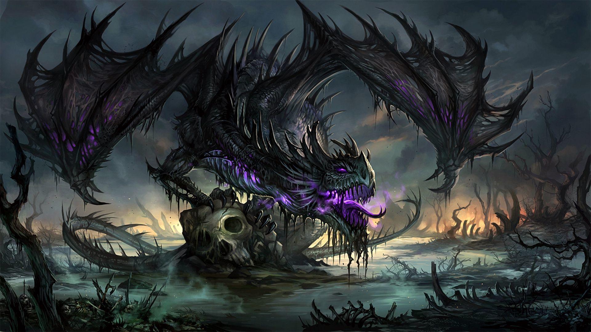 Purple Dragon Wallpapers Top Free Purple Dragon Backgrounds
