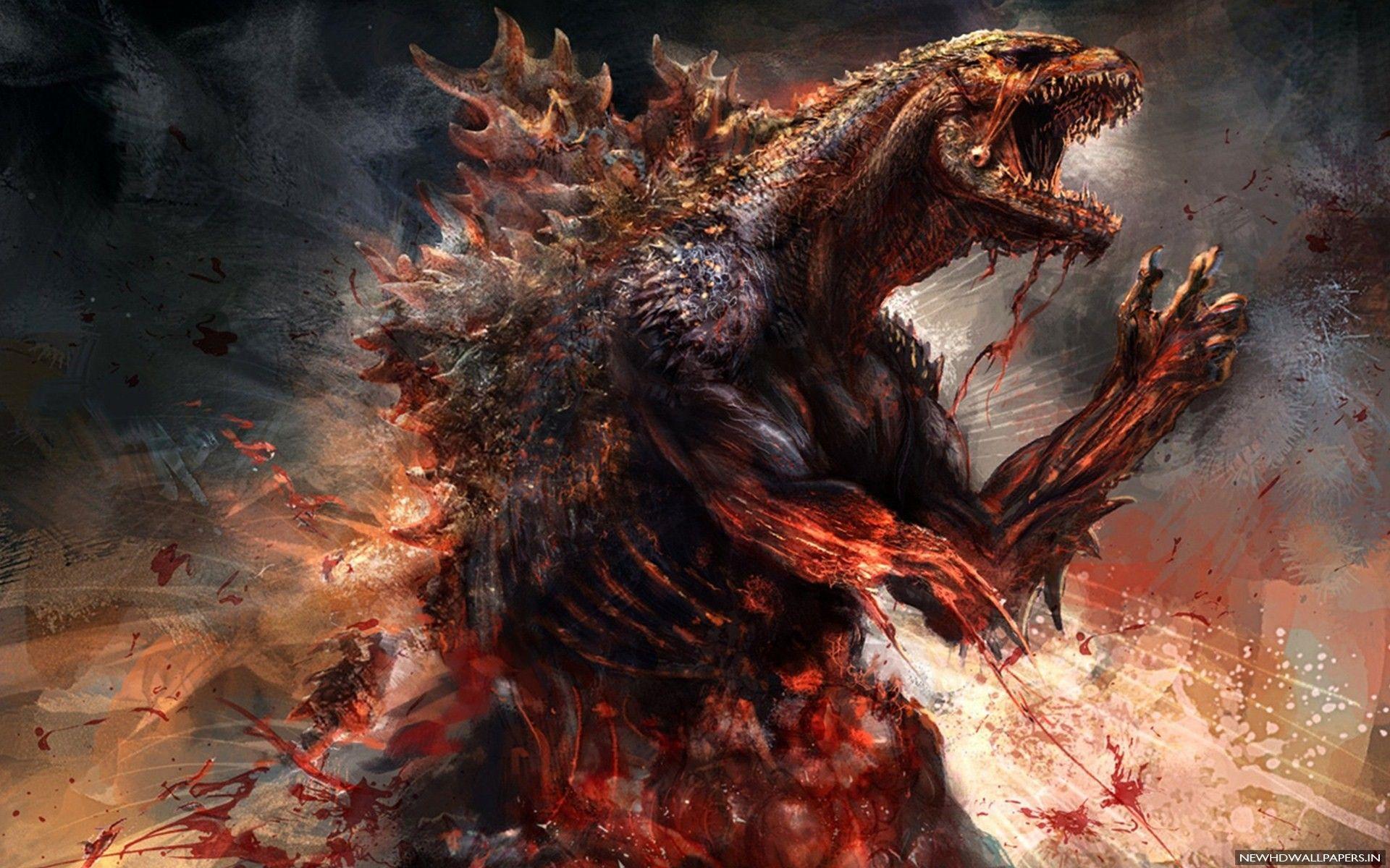 1920x1200 Godzilla Poster hình nền - Hình nền HD mới