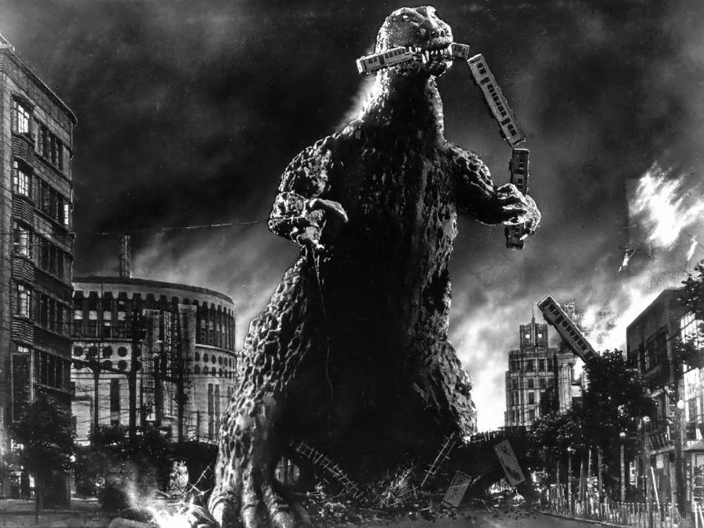 1024x768 Hình nền Godzilla 1954