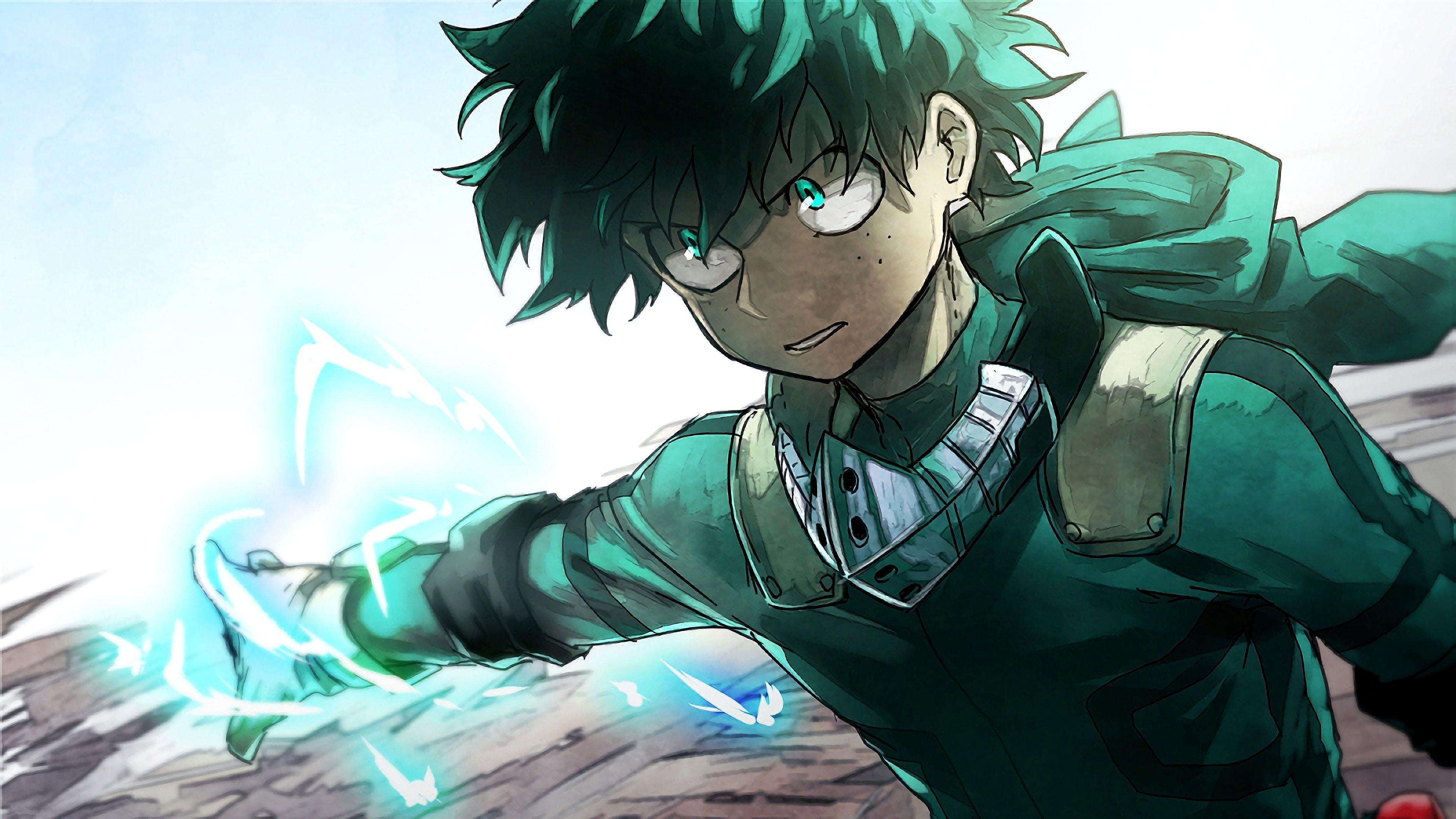 3840x2160 Izuku Midoriya, My Hero Academia, Boku no Hero Academia, Anime, 3840x2160, Hình nền.  Anh hùng của tôi, Boku no hero academia, My hero academia