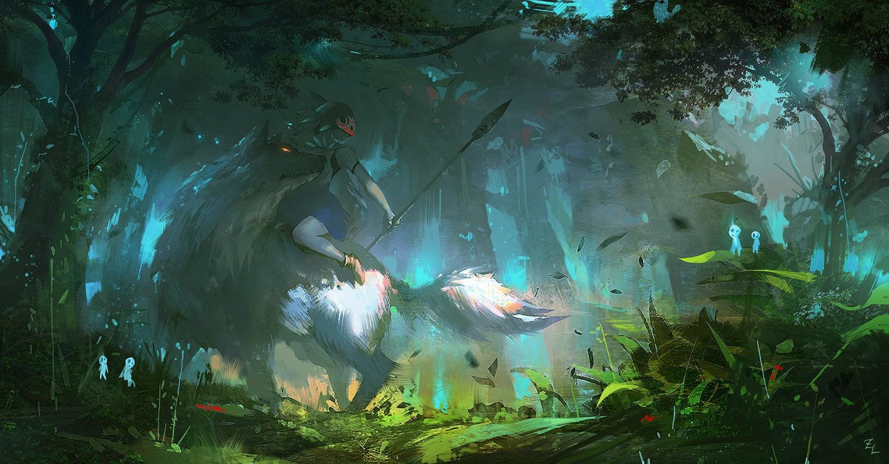 Princess Mononoke Wallpapers Top Free Princess Mononoke Backgrounds Wallpaperaccess