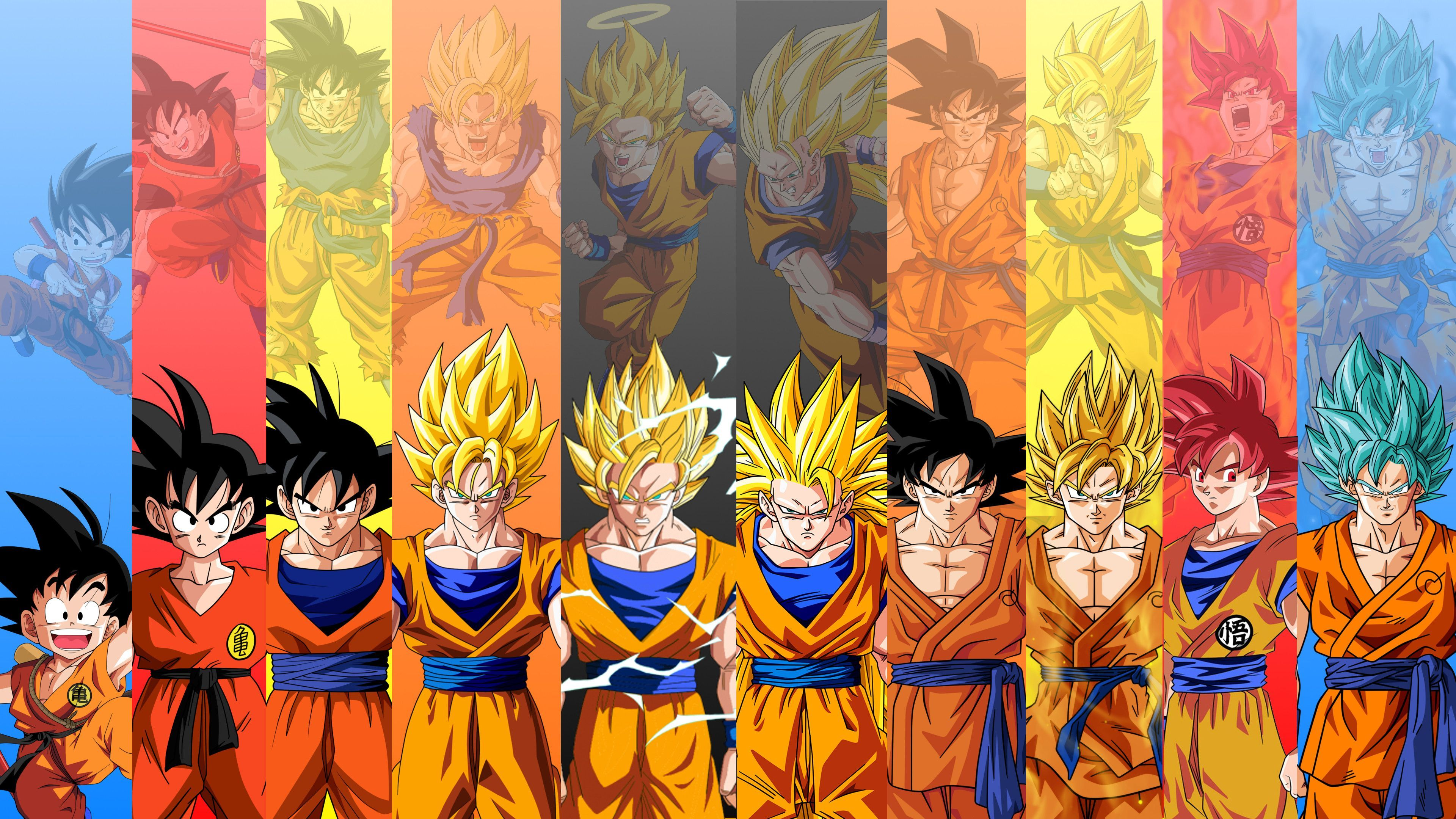 All goku forms wallpapers top free all goku forms - Dragon ball gt goku wallpaper ...