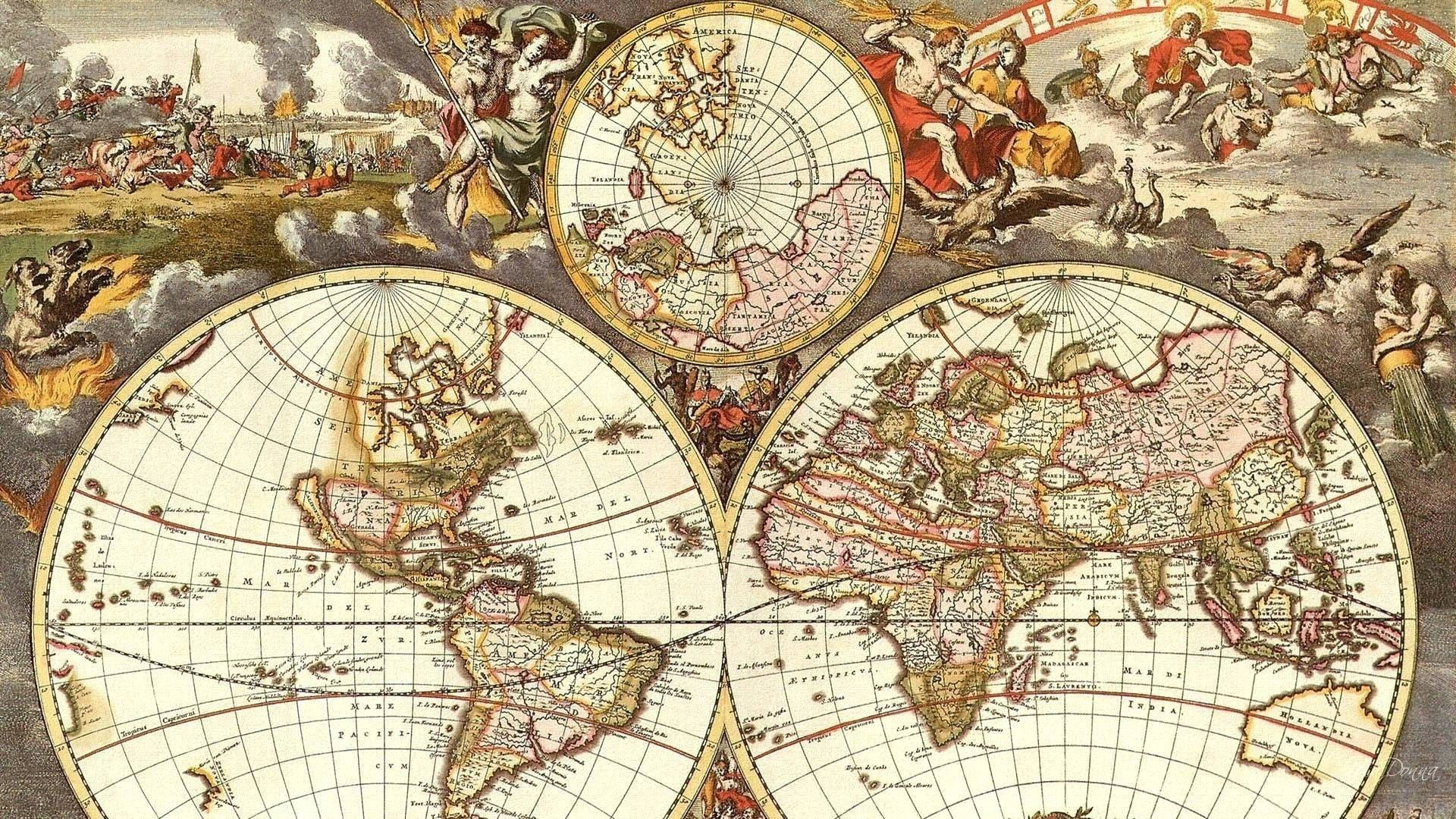 Antique World Map Wallpapers Top Free Antique World Map