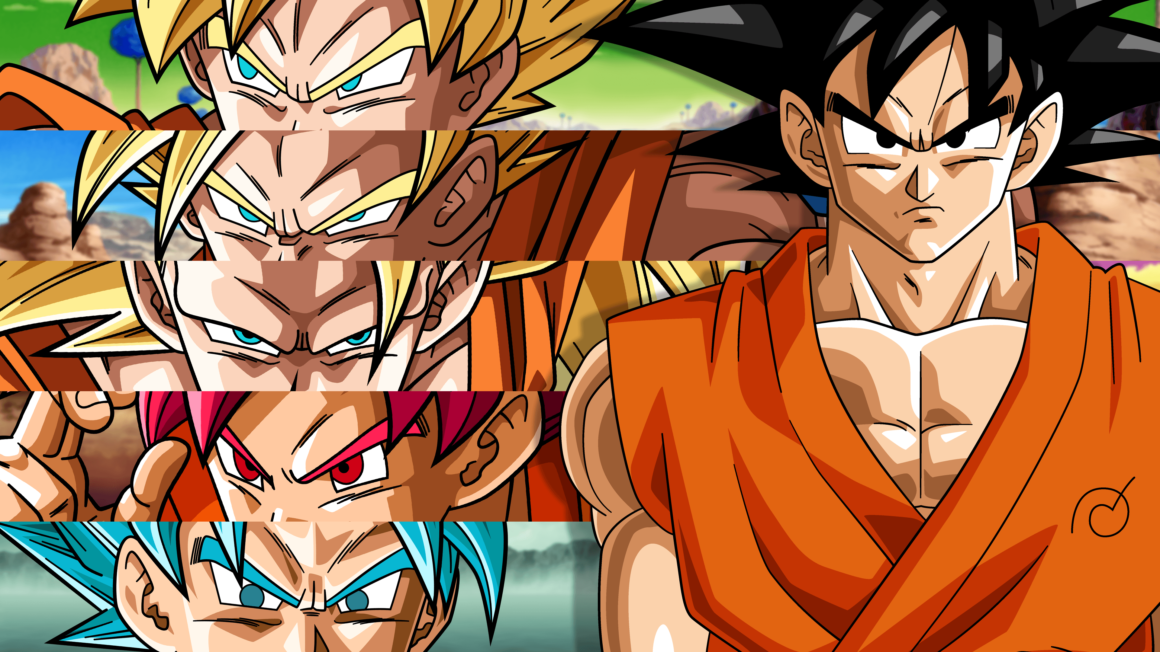 All Goku Forms Wallpapers Top Free All Goku Forms Backgrounds Wallpaperaccess