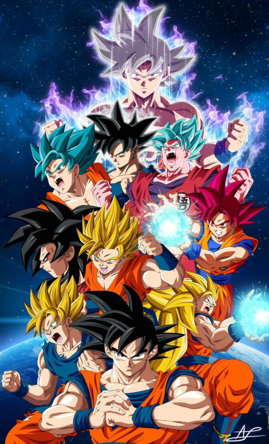 All Goku Forms Wallpapers Top Free All Goku Forms