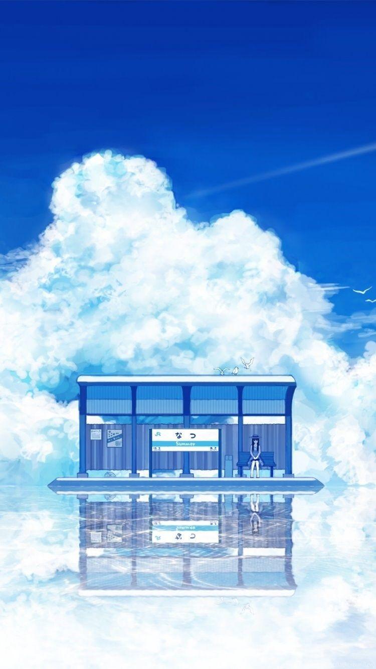 Anime Scenery Iphone Wallpapers Top Free Anime Scenery Iphone