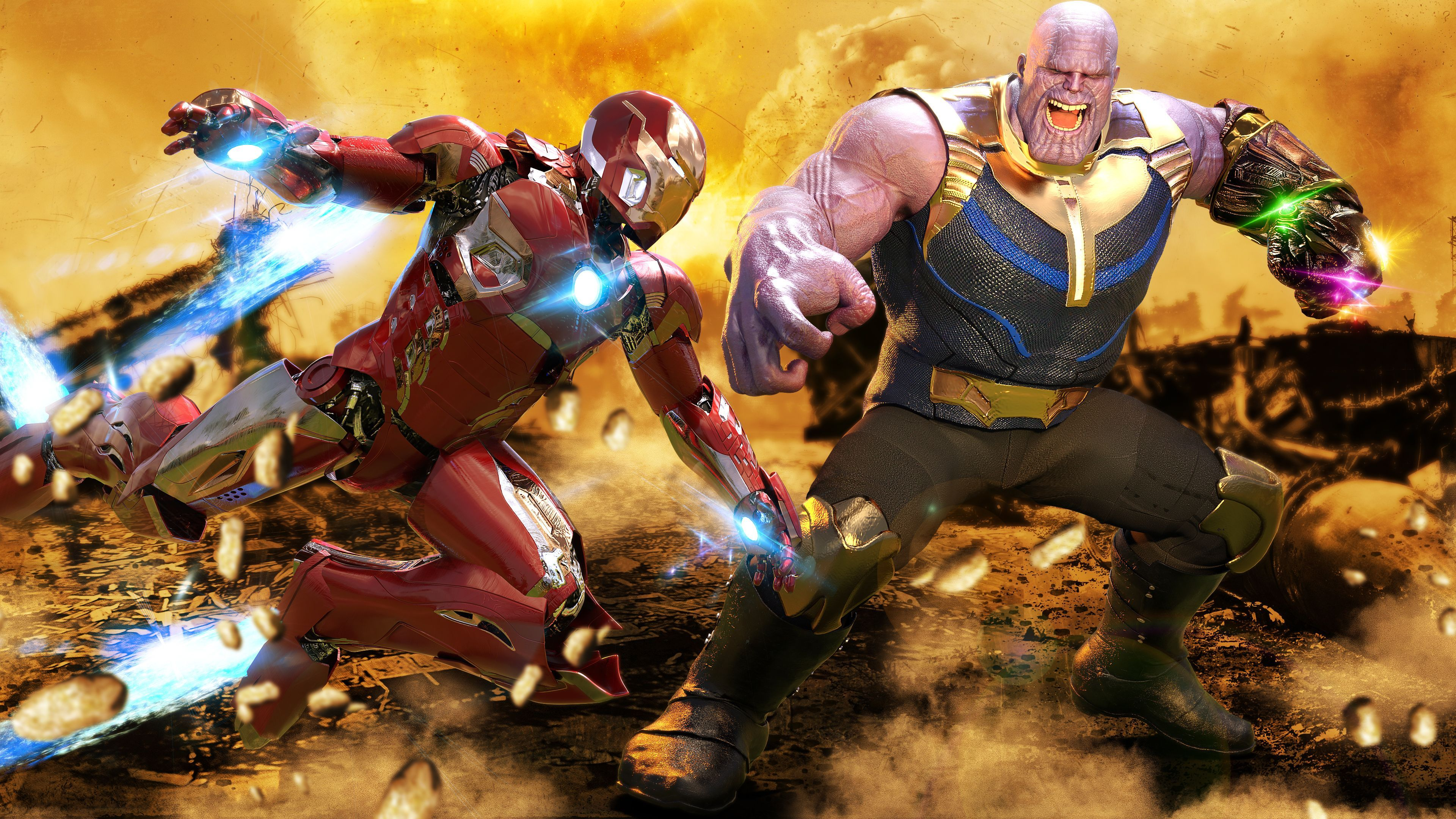 Thanos Vs Iron Man Wallpapers Top Free Thanos Vs Iron Man Backgrounds Wallpaperaccess