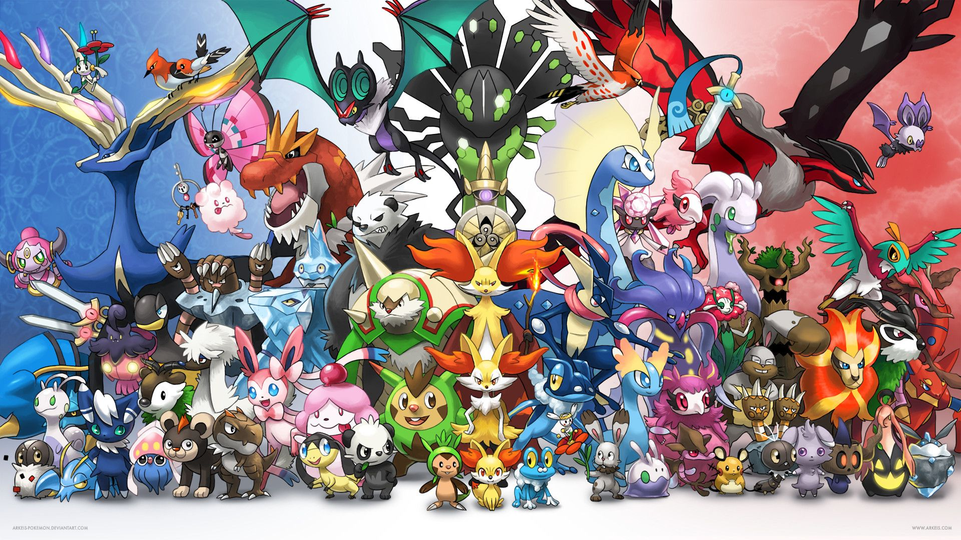 1920x1080 All Legendary Pokemon Wallpaper (79+ images)