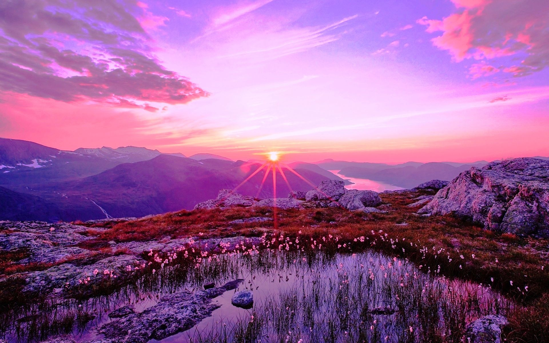 Purple Sunset Wallpapers Top Free Purple Sunset Backgrounds Wallpaperaccess