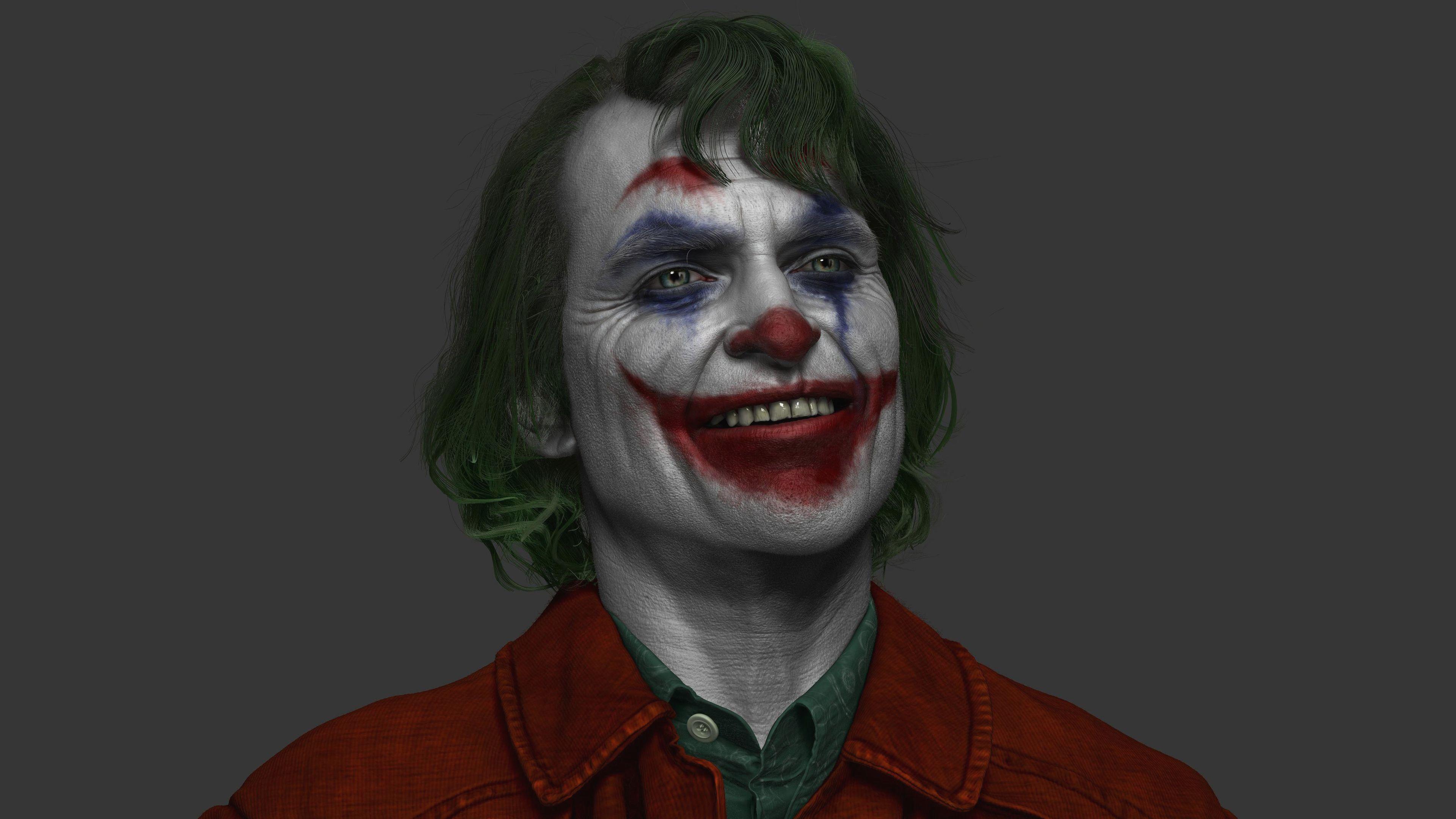 High Resolution Joaquin Phoenix Joker 2019 Poster Wallpaper
