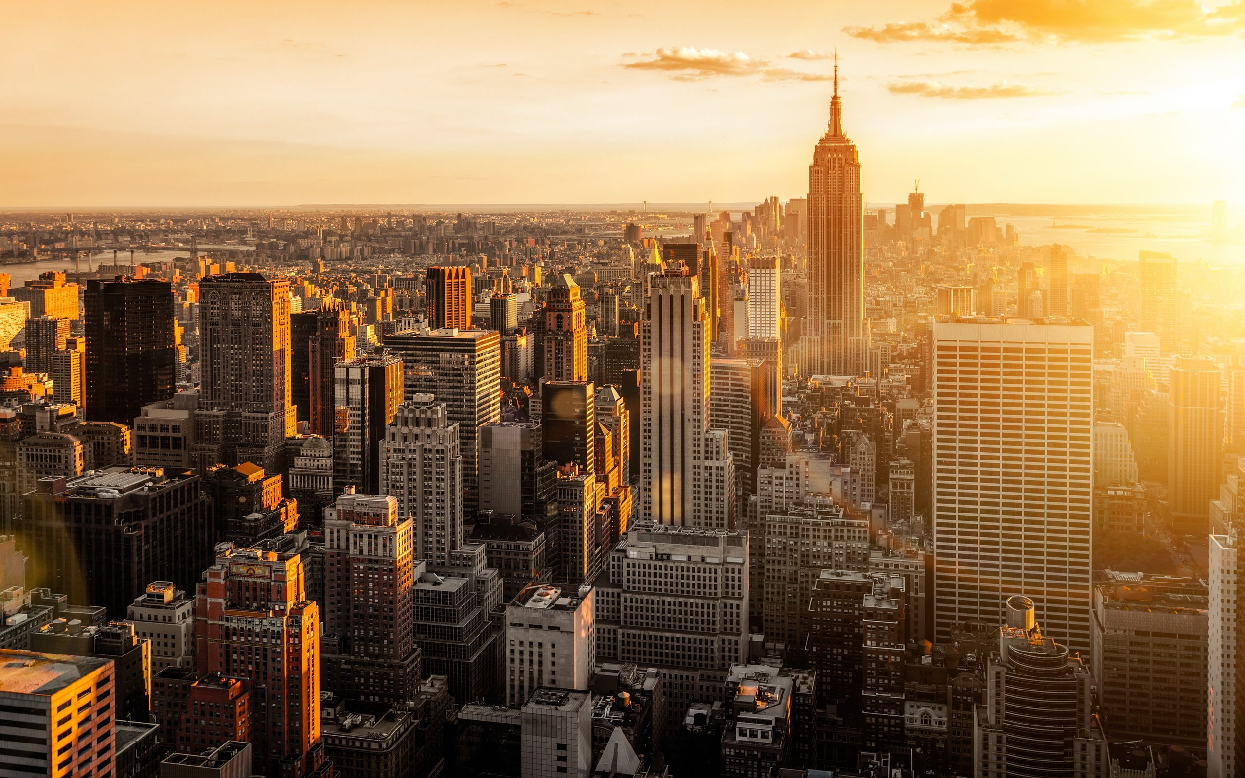 New York Sunset Wallpapers Top Free New York Sunset Backgrounds Wallpaperaccess
