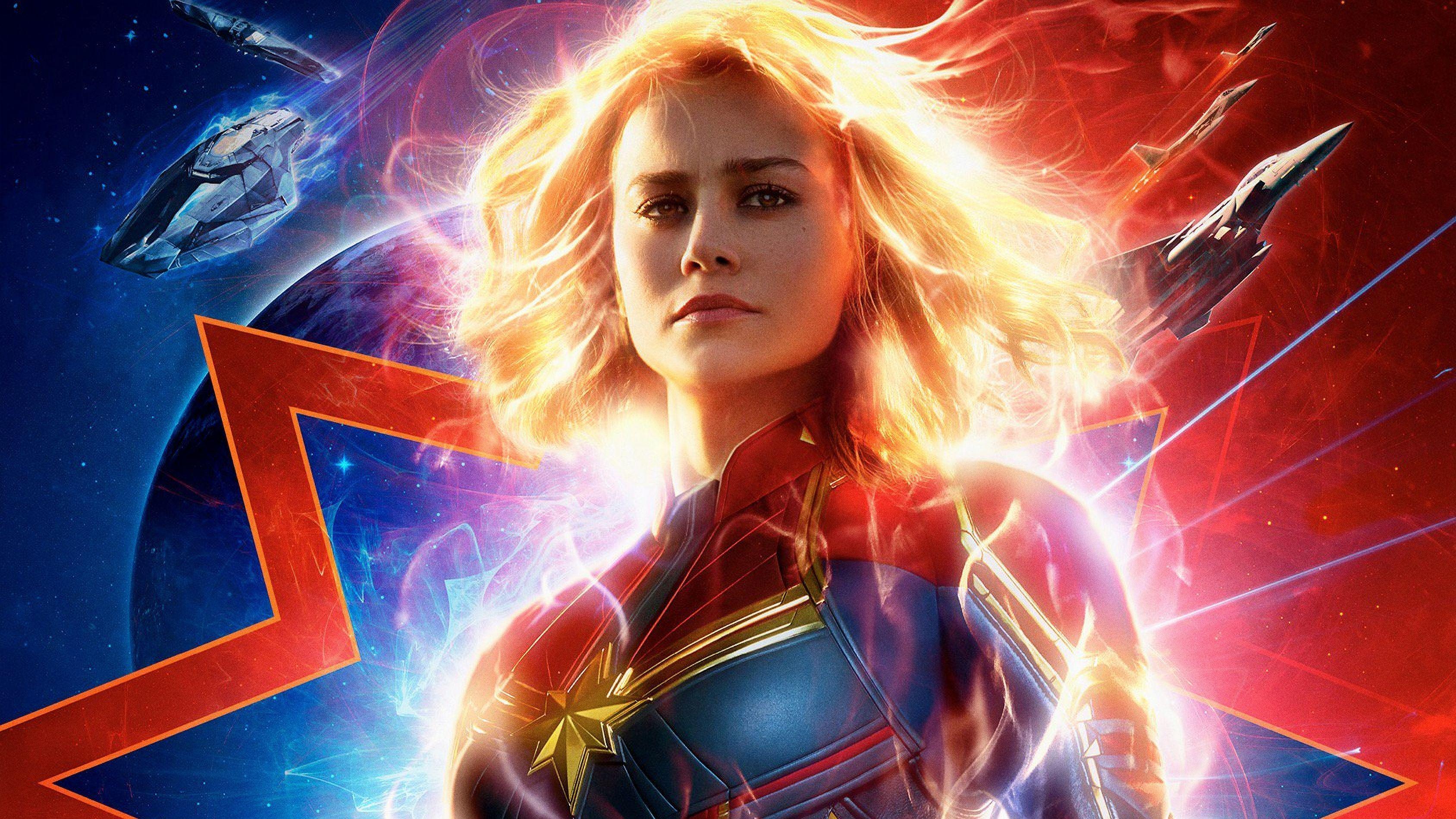 Captain Marvel 4k Wallpapers Top Free Captain Marvel 4k Backgrounds Wallpaperaccess