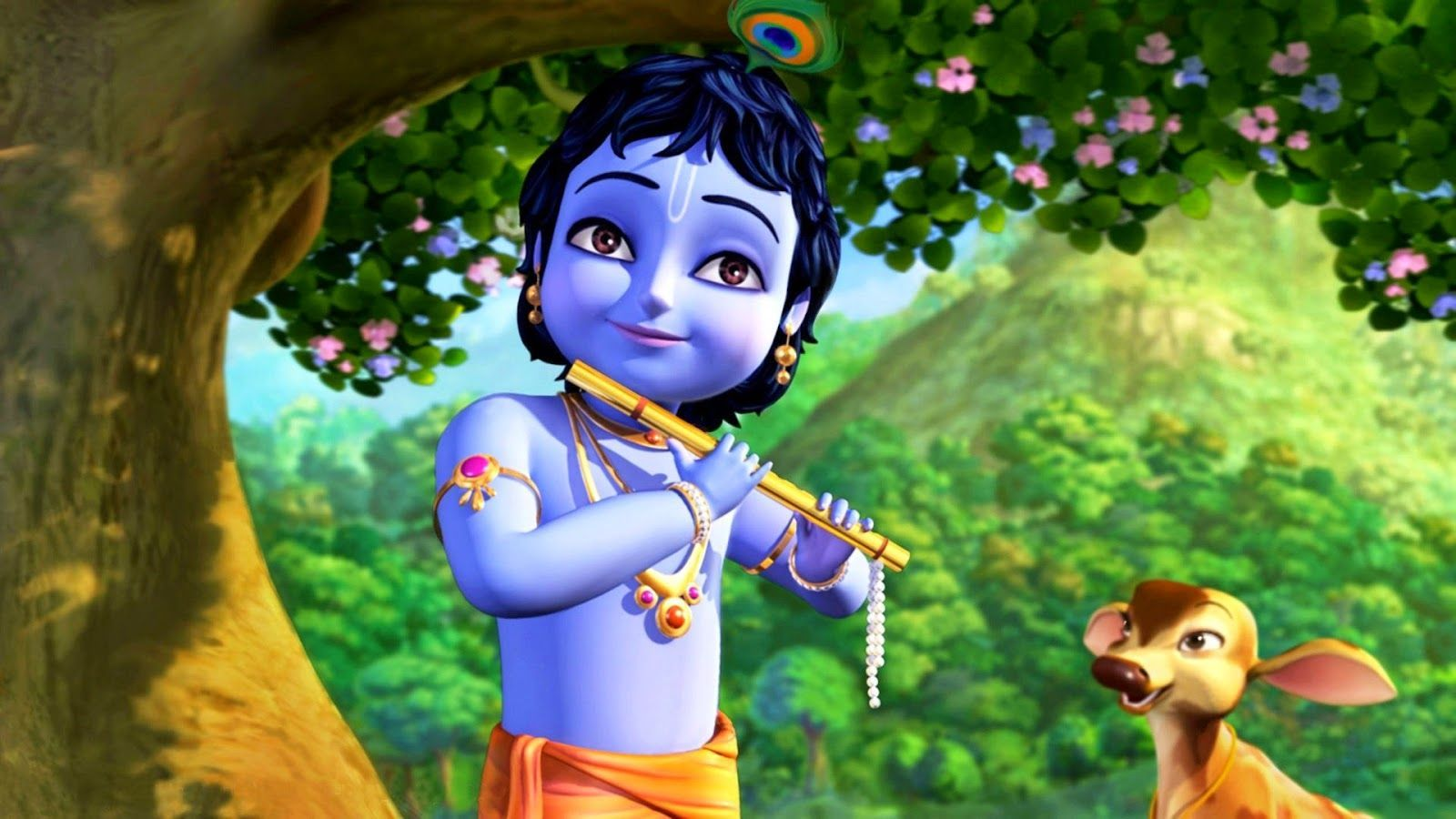 Little Krishna Wallpapers Top Free Little Krishna Backgrounds Wallpaperaccess