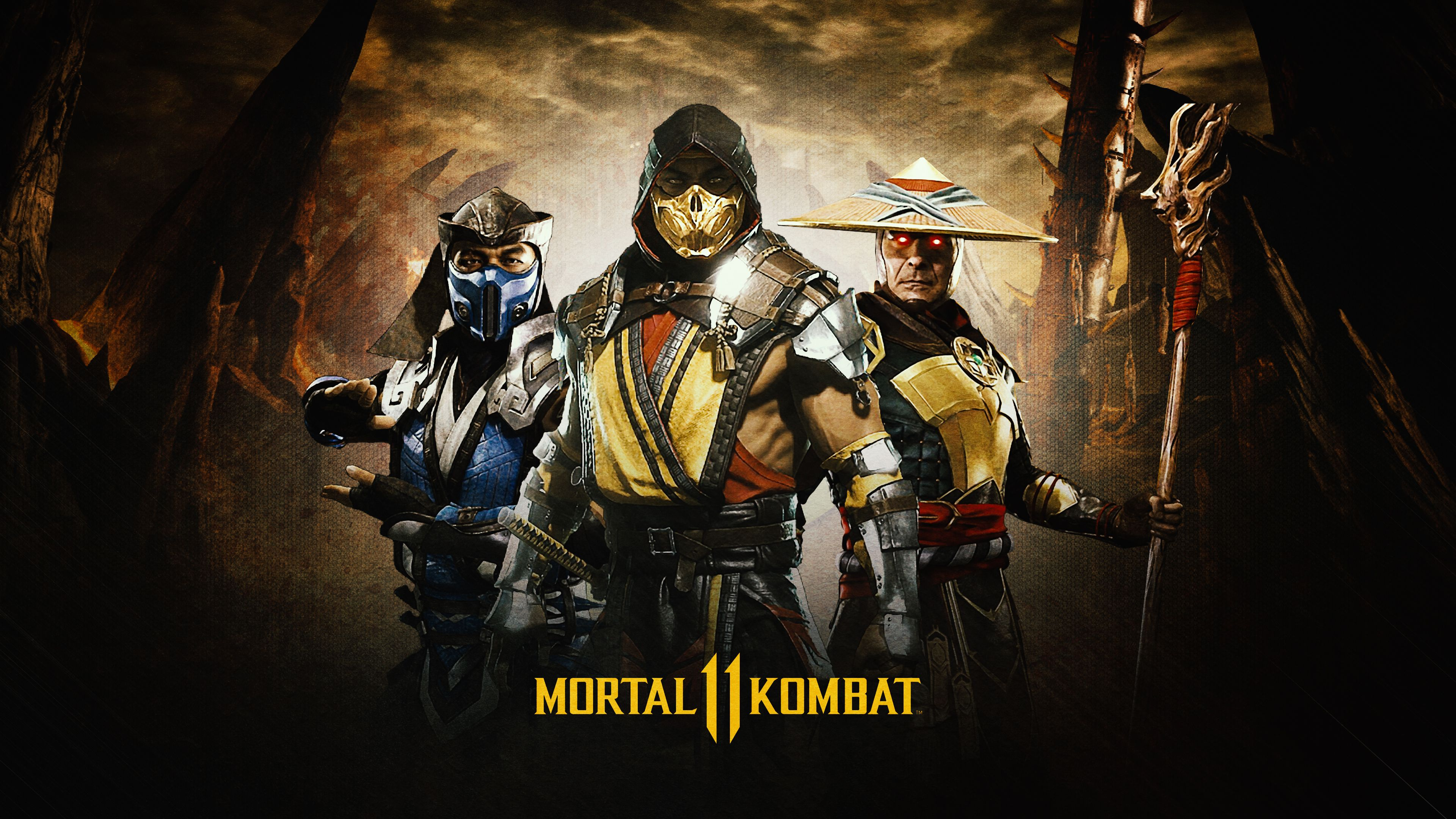 ultra hd mortal kombat 11 scorpion wallpaper
