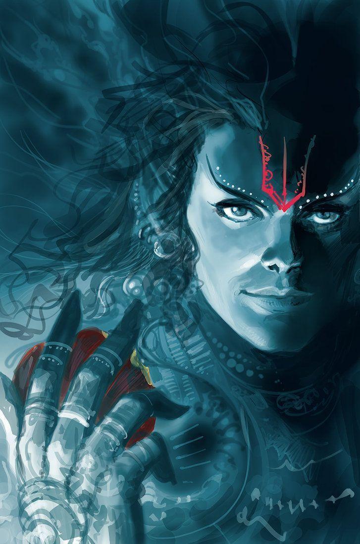 727x1099 Sabarish Kumar về các vị thần Ấn Độ.  Shiva tức giận, tức giận