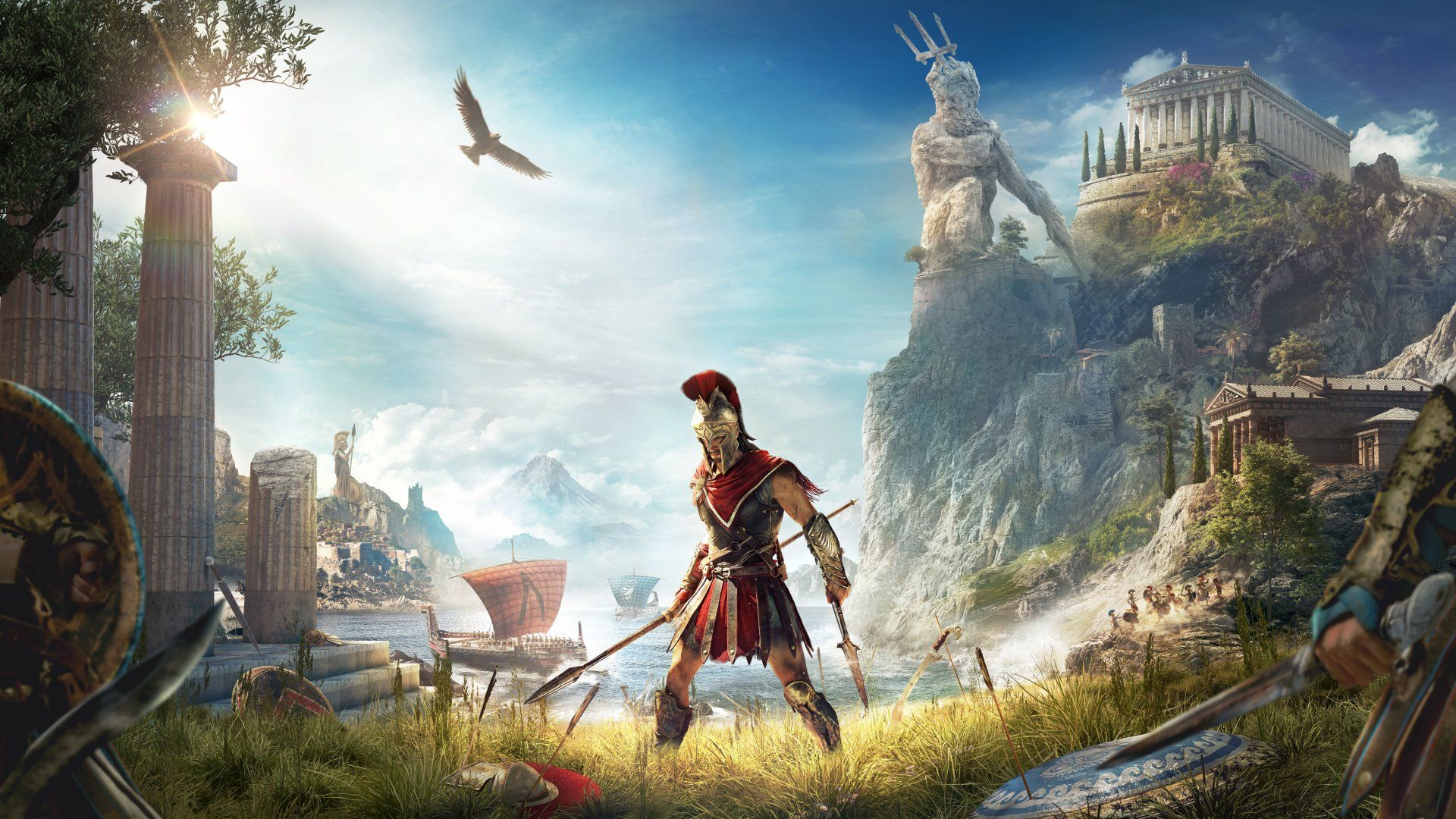assassins creed odyssey kassandra wallpaper 4k