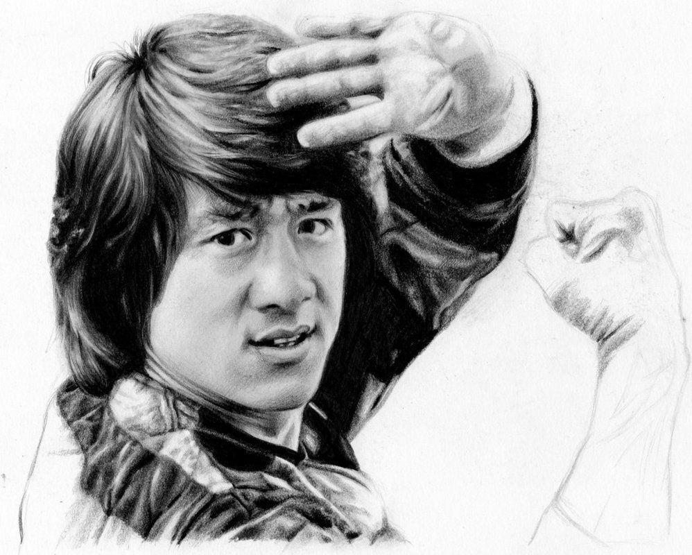 Джеки чан в картинках карандашом
