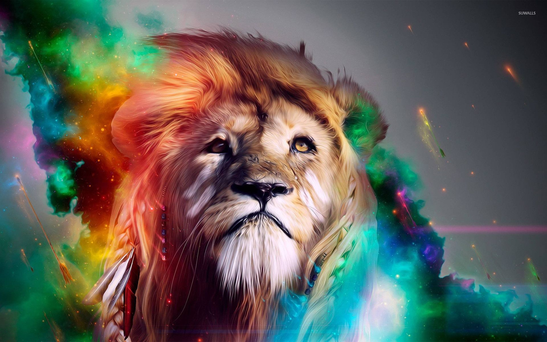 Abstract Lion Wallpapers Top Free Abstract Lion Backgrounds Wallpaperaccess