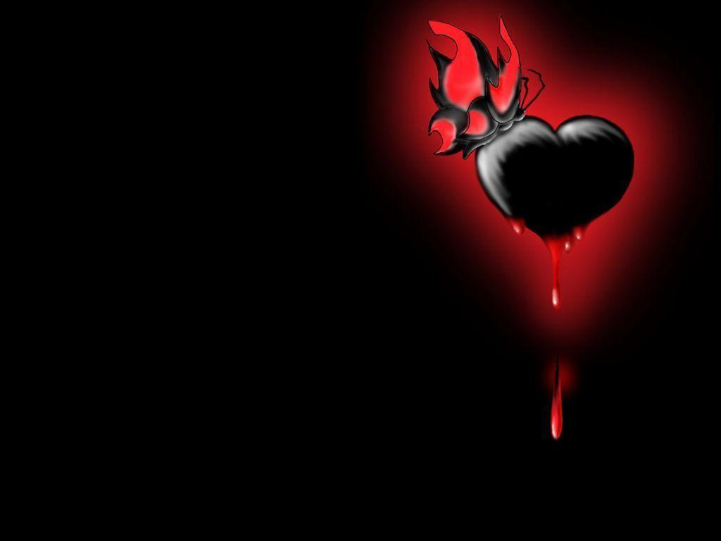 Black And Red Love Wallpaper Hd