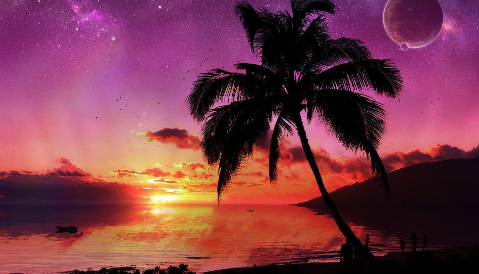 Island Sunset Wallpapers Top Free Island Sunset