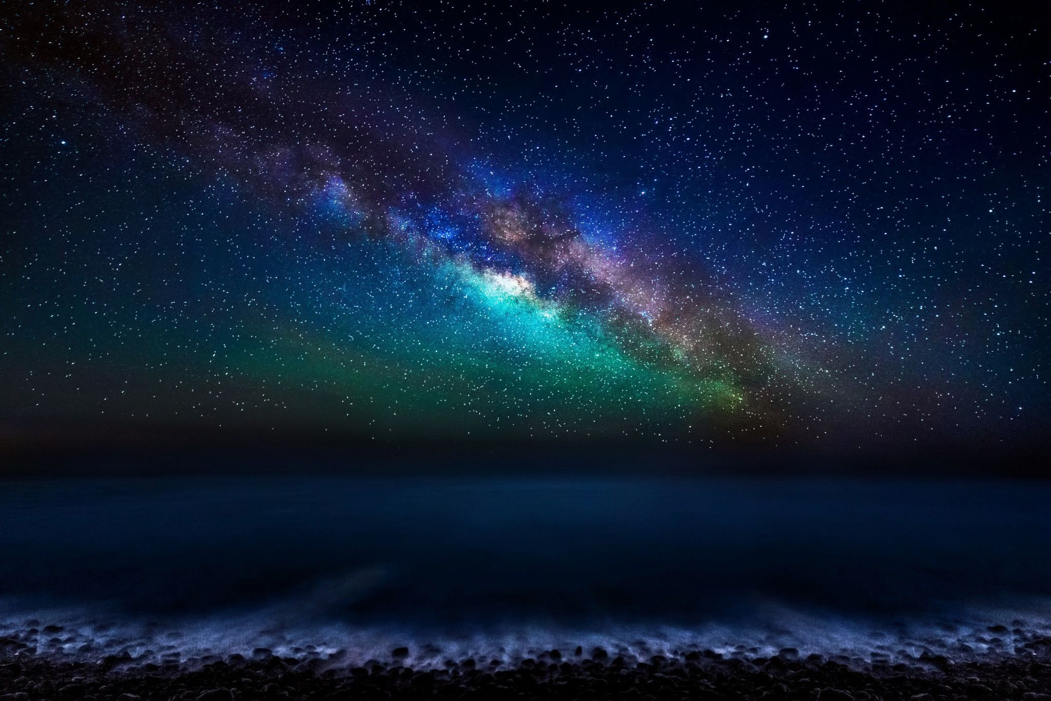 Ocean Night Sky Wallpapers Top Free Ocean Night Sky Backgrounds Wallpaperaccess