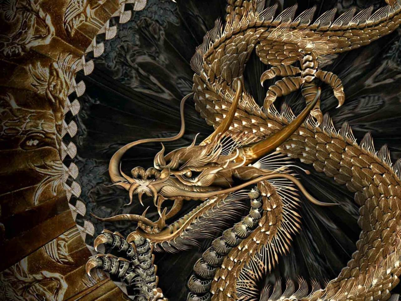Black And Gold Dragon Wallpapers Top Free Black And Gold Dragon Backgrounds Wallpaperaccess