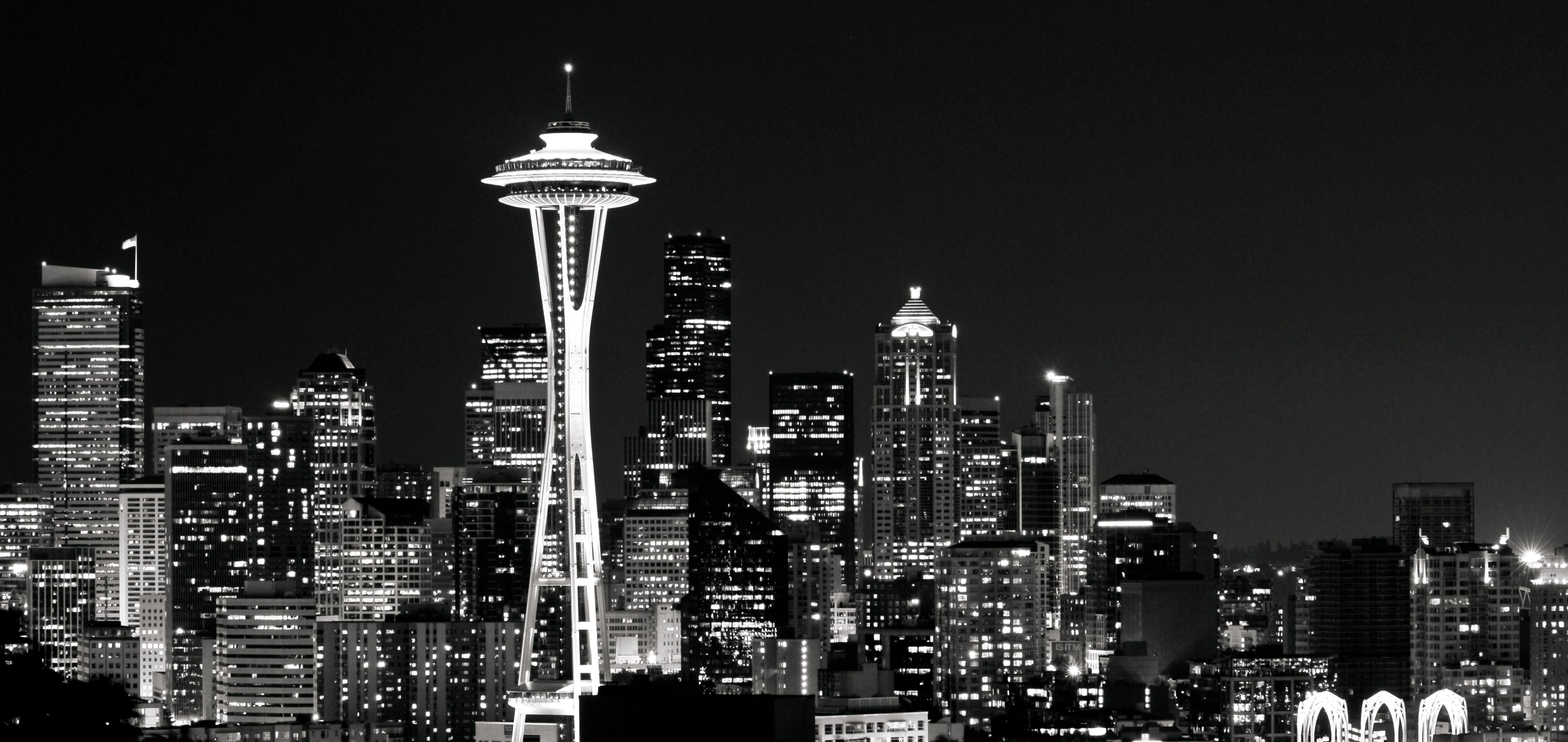 Seattle Black And White Wallpapers Top Free Seattle Black And White Backgrounds Wallpaperaccess