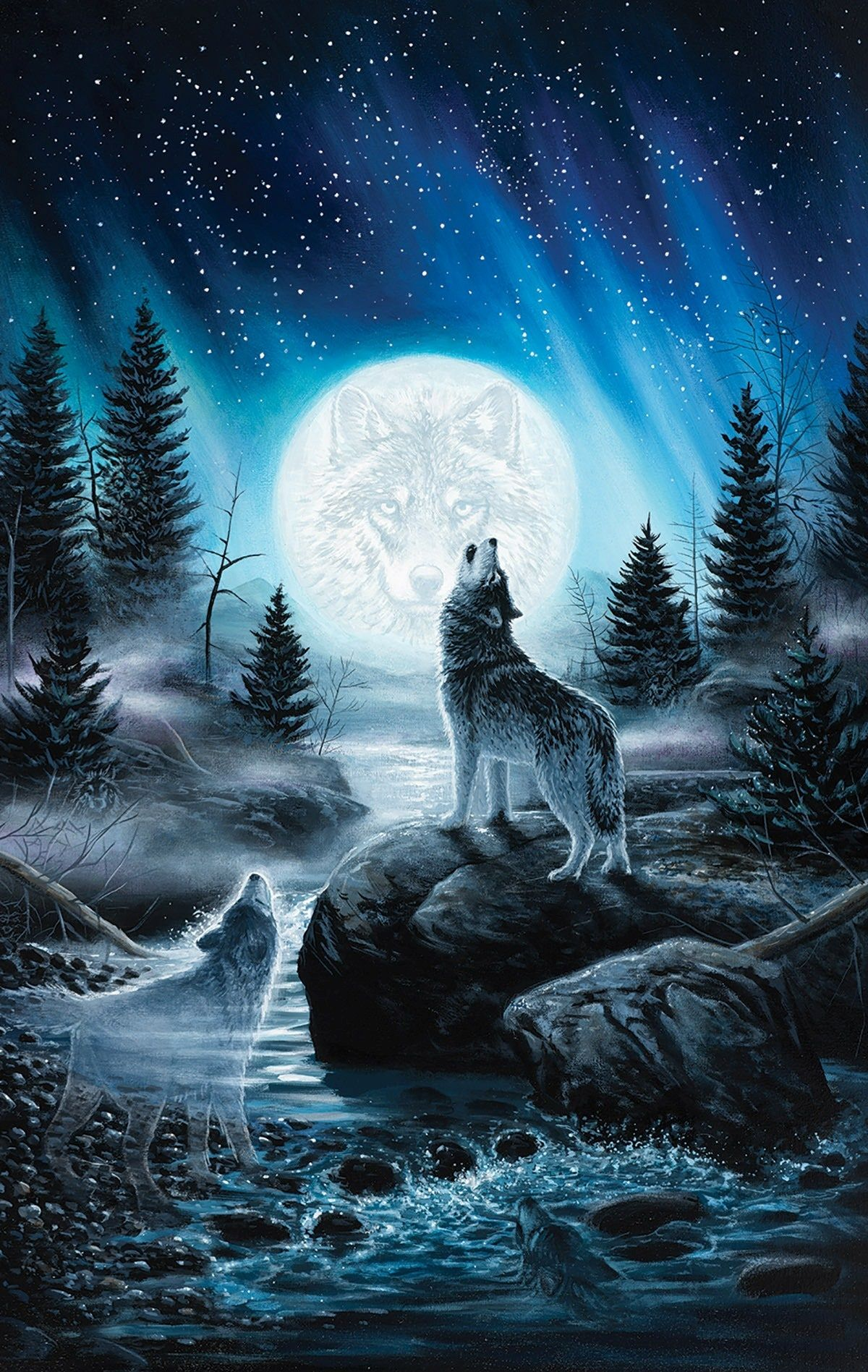 Blue Wolves Wallpapers Top Free Blue Wolves Backgrounds Wallpaperaccess