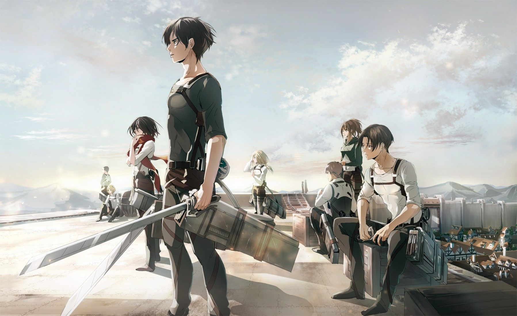 Attack Of Titan Wallpapers Top Free Attack Of Titan Backgrounds Wallpaperaccess