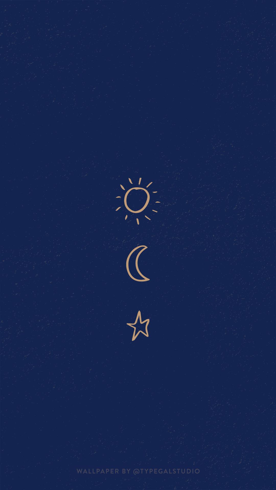 Moon And Stars Wallpaper Aesthetic   Rehare