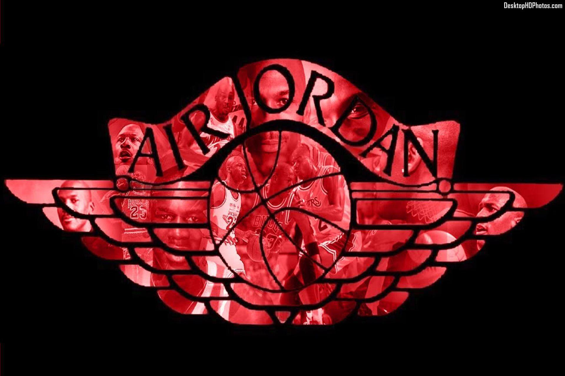 Hình nền Logo Air Jordan 1920x1280 HD để tải xuống miễn phí