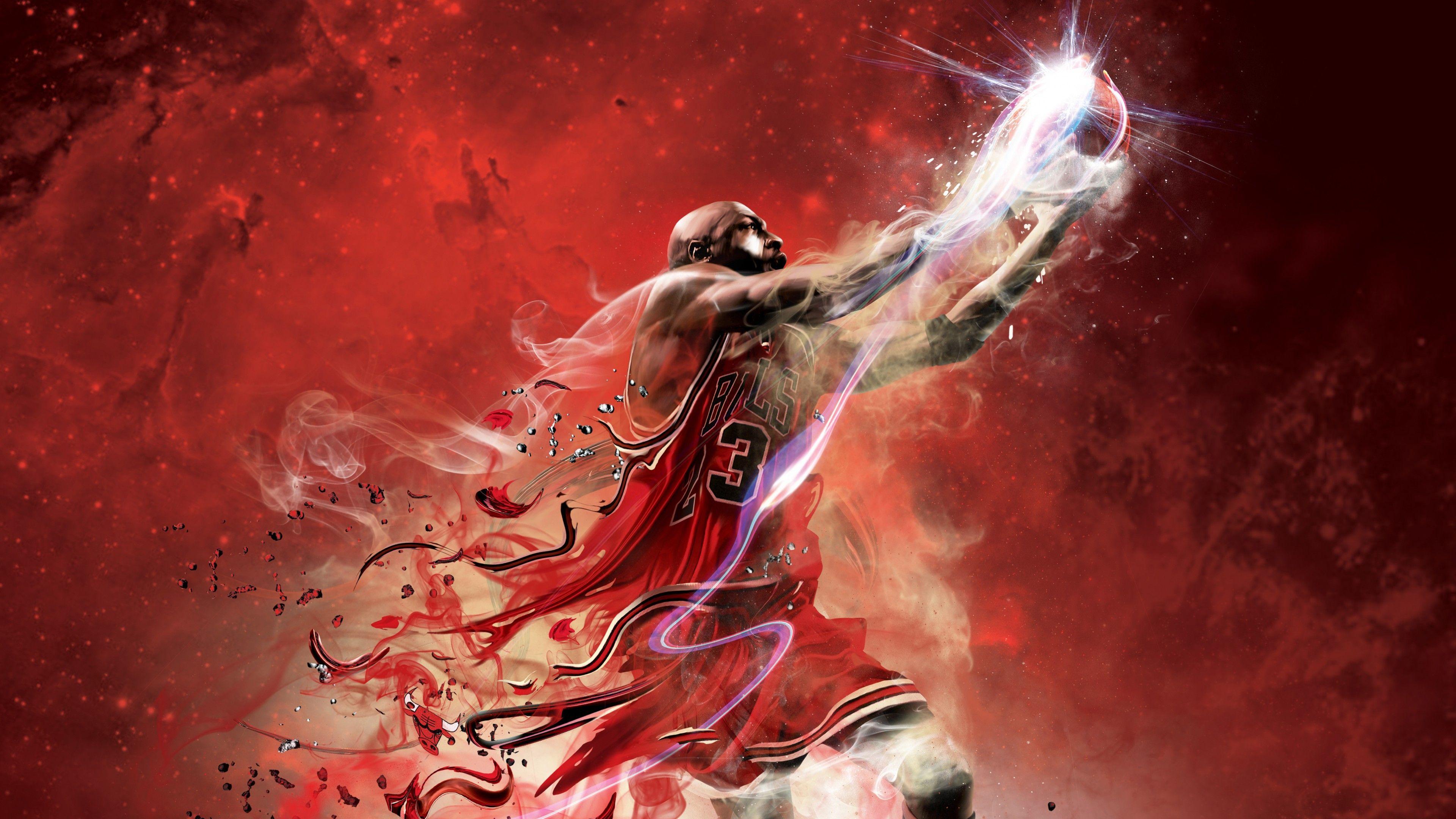 3840x2160 Hình nền Michael Jordan, NBA, Bóng rổ, độ phân giải cao, 4K, các môn thể thao