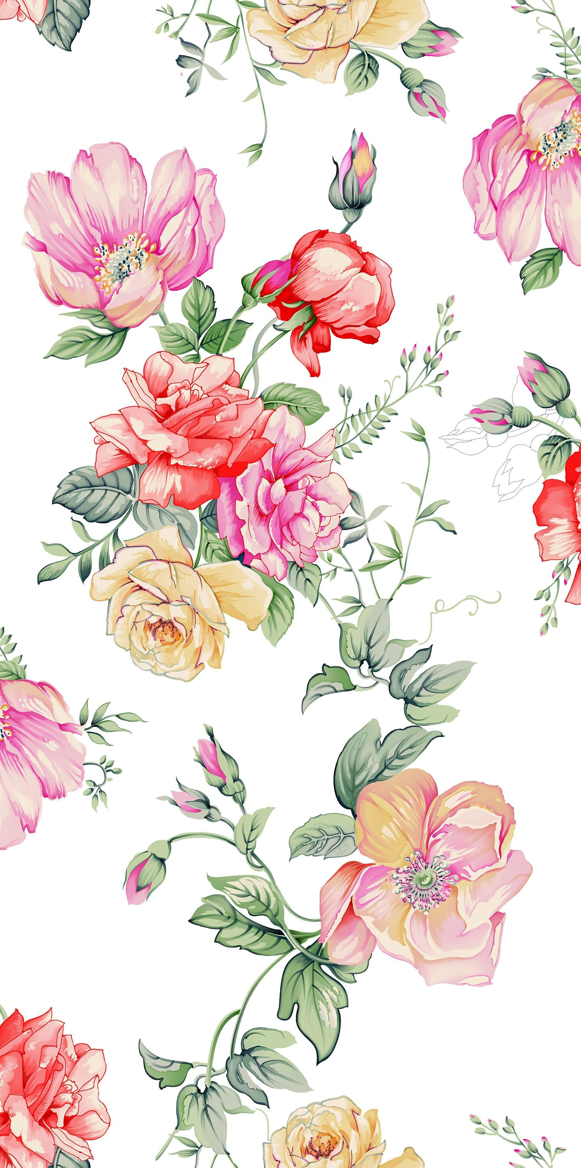 Watercolor Floral Phone Wallpapers Top Free Watercolor Floral