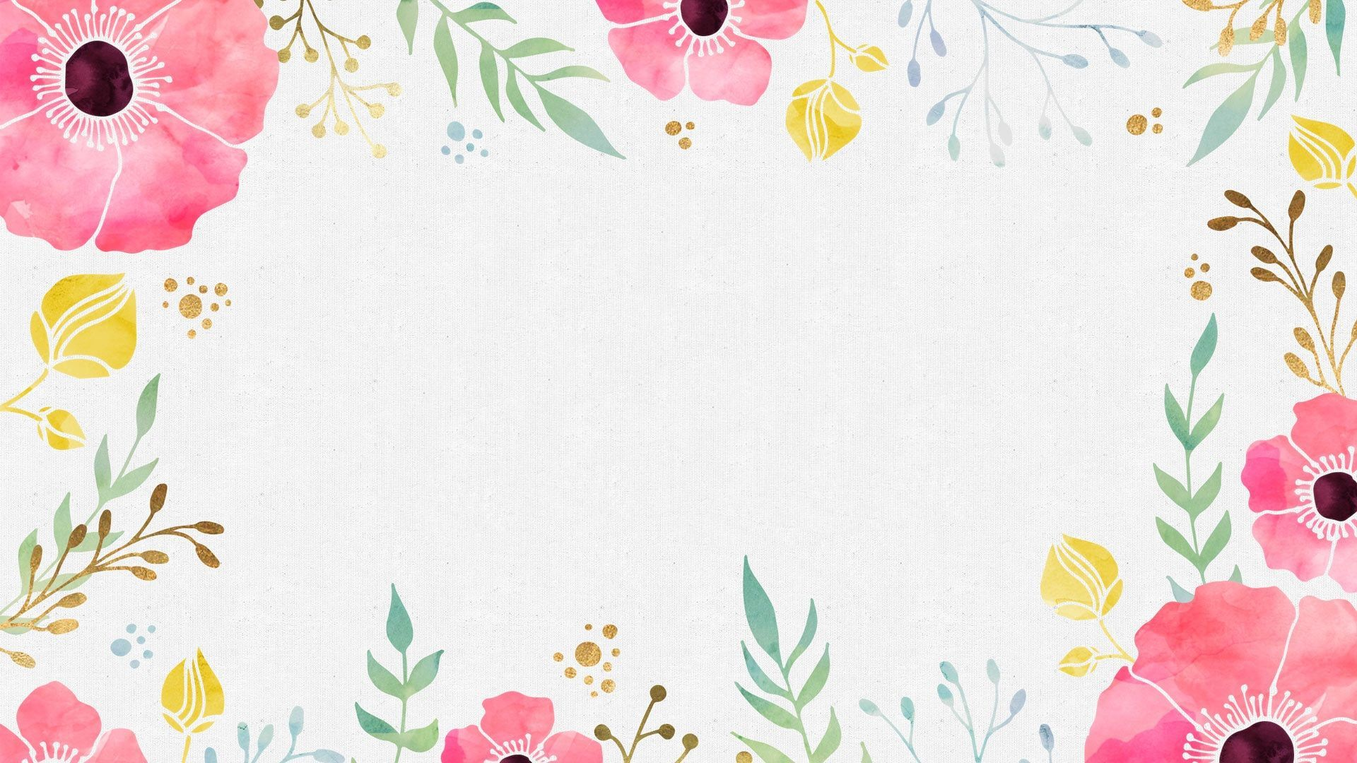 Watercolor Floral Desktop Wallpapers Top Free Watercolor Floral