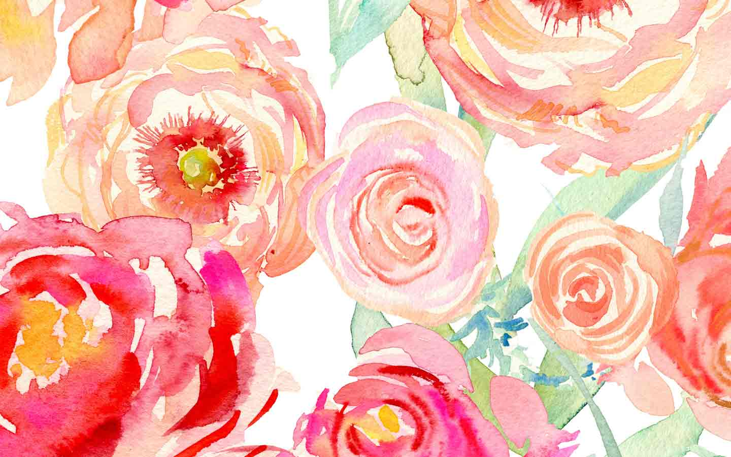 Watercolor Flowers Desktop Wallpapers Top Free Watercolor