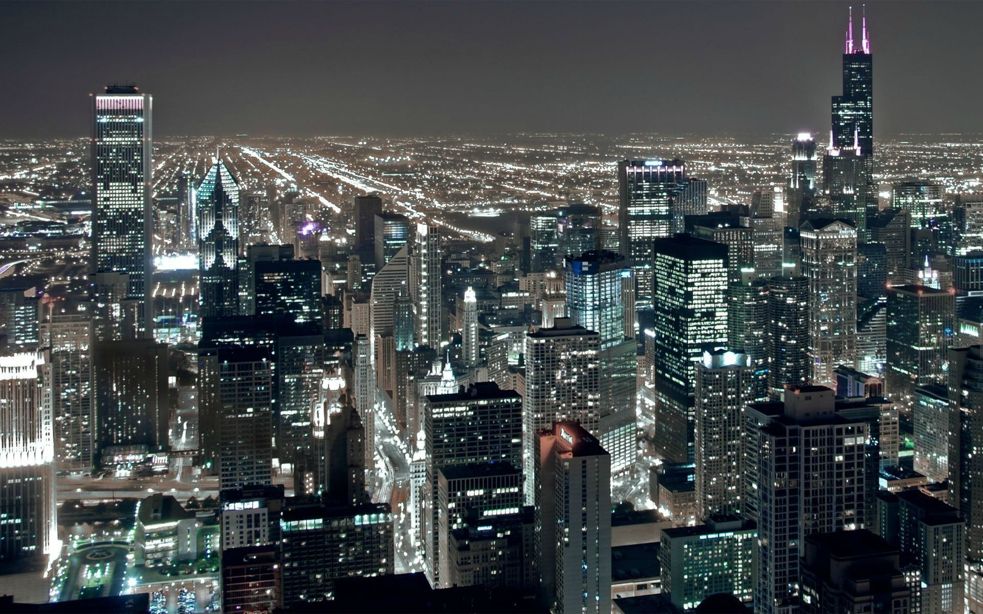 Chicago City Night Wallpapers Top Free Chicago City Night