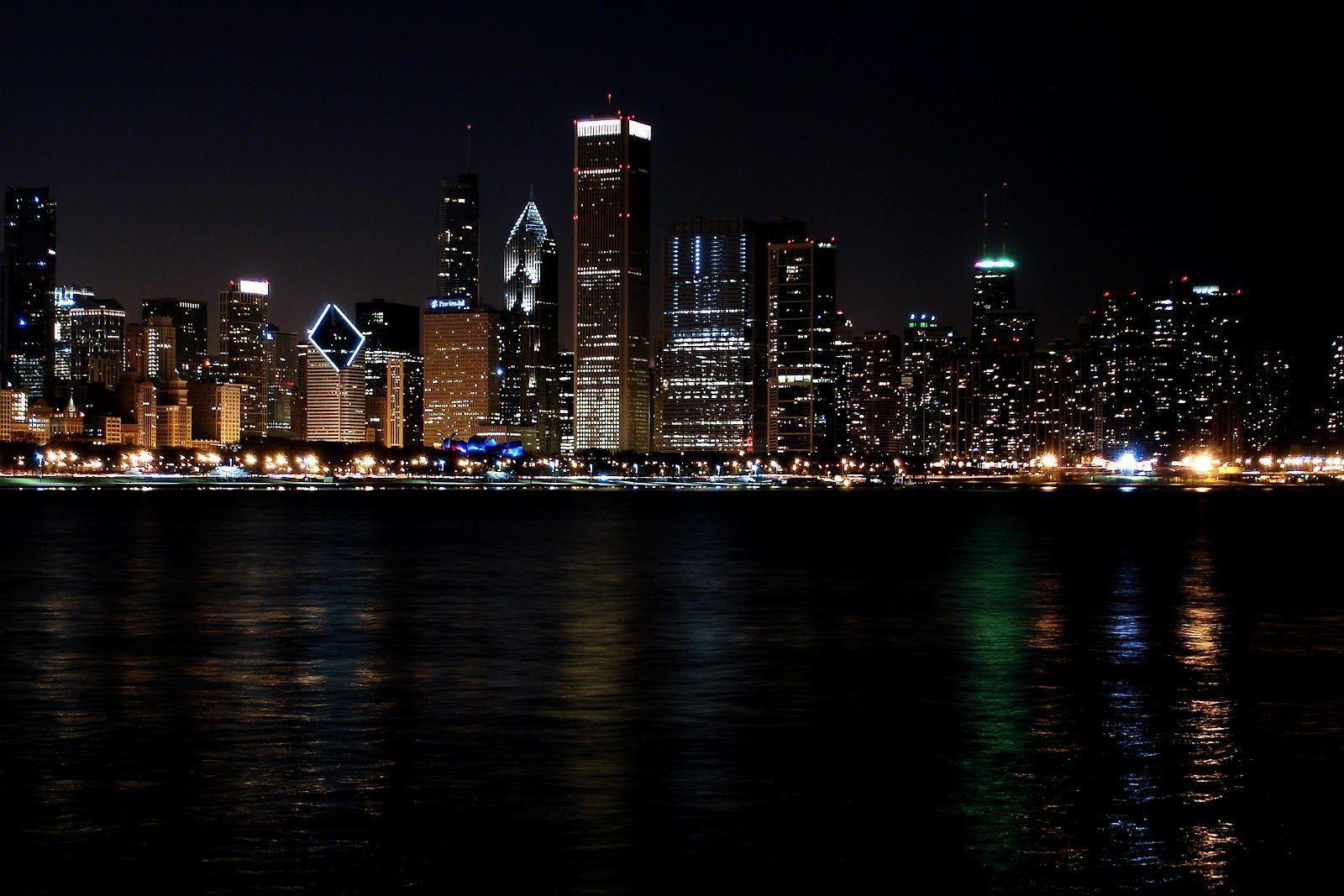 Chicago At Night Wallpapers Top Free Chicago At Night