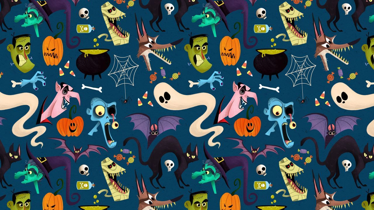 Halloween Pattern Wallpapers Top Free Halloween Pattern Backgrounds Wallpaperaccess