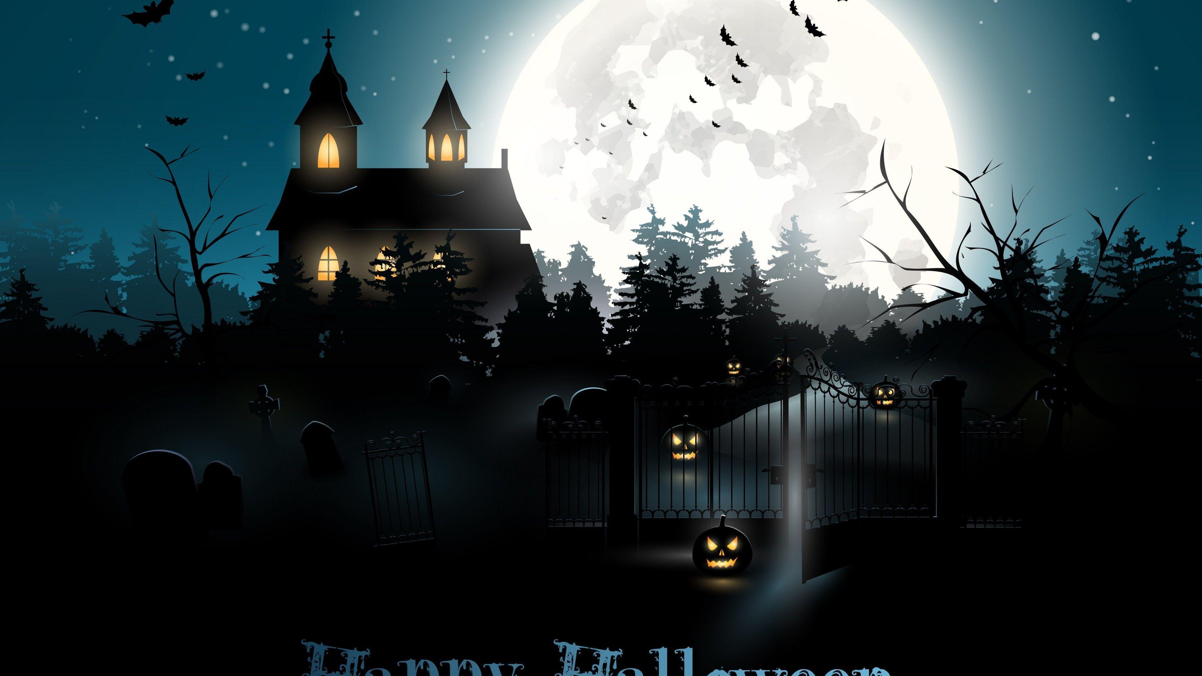 Halloween Moon Wallpapers Top Free Halloween Moon Backgrounds Wallpaperaccess