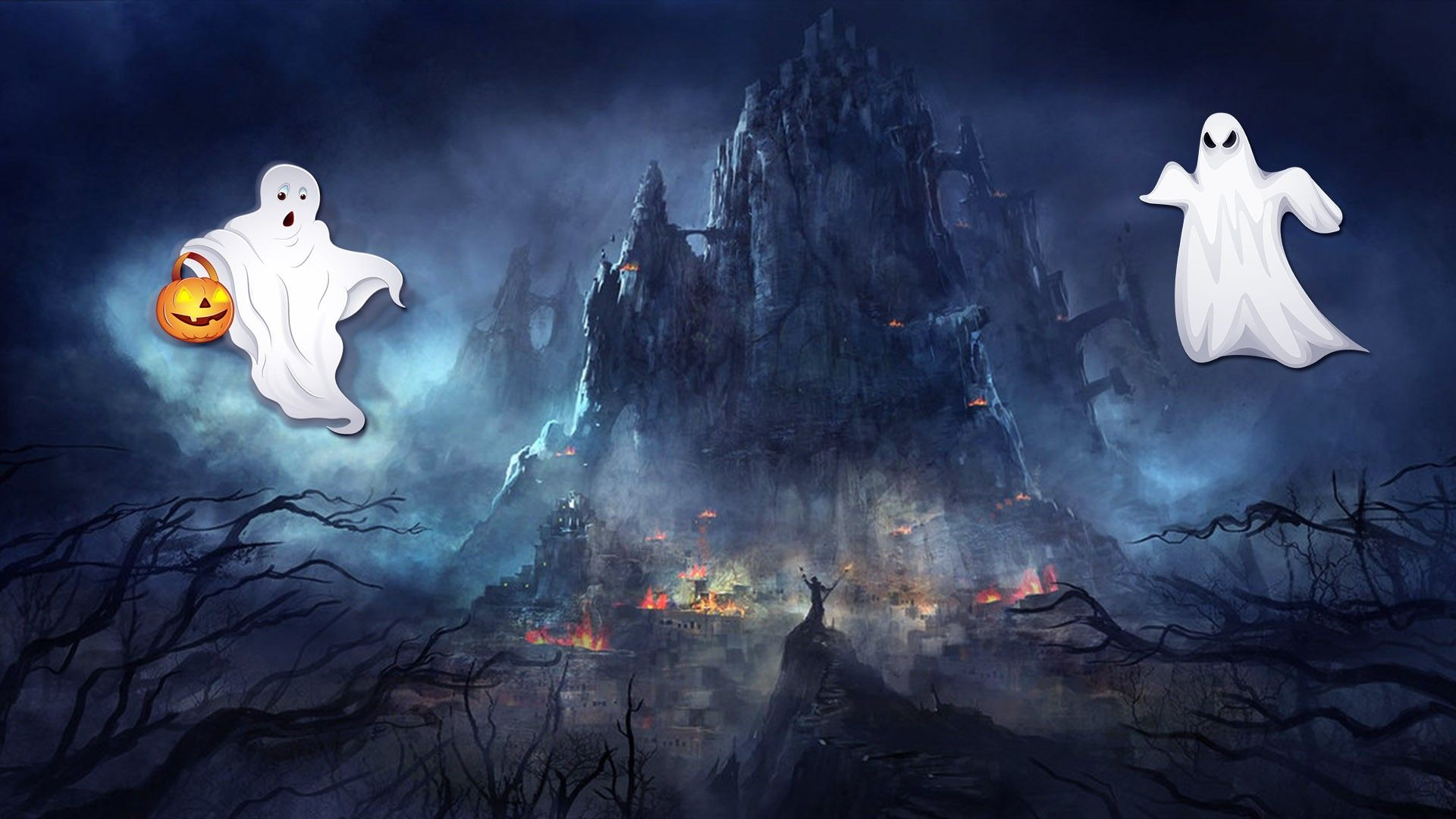 Halloween Ghost Wallpapers - Top Free Halloween Ghost Backgrounds - WallpaperAccess