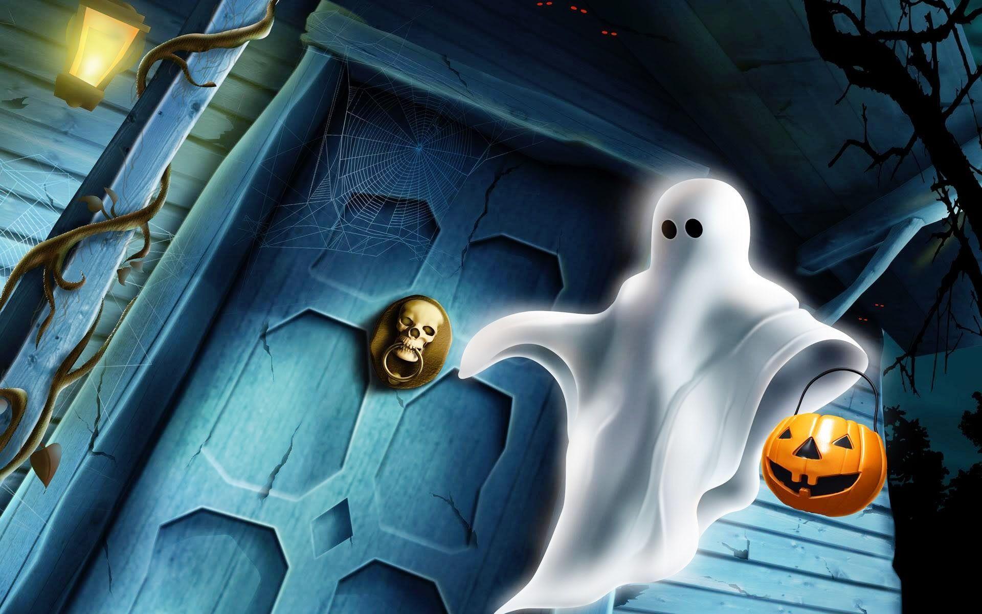 Halloween Ghost Desktop Wallpapers - Top Free Halloween Ghost Desktop Backgrounds - WallpaperAccess