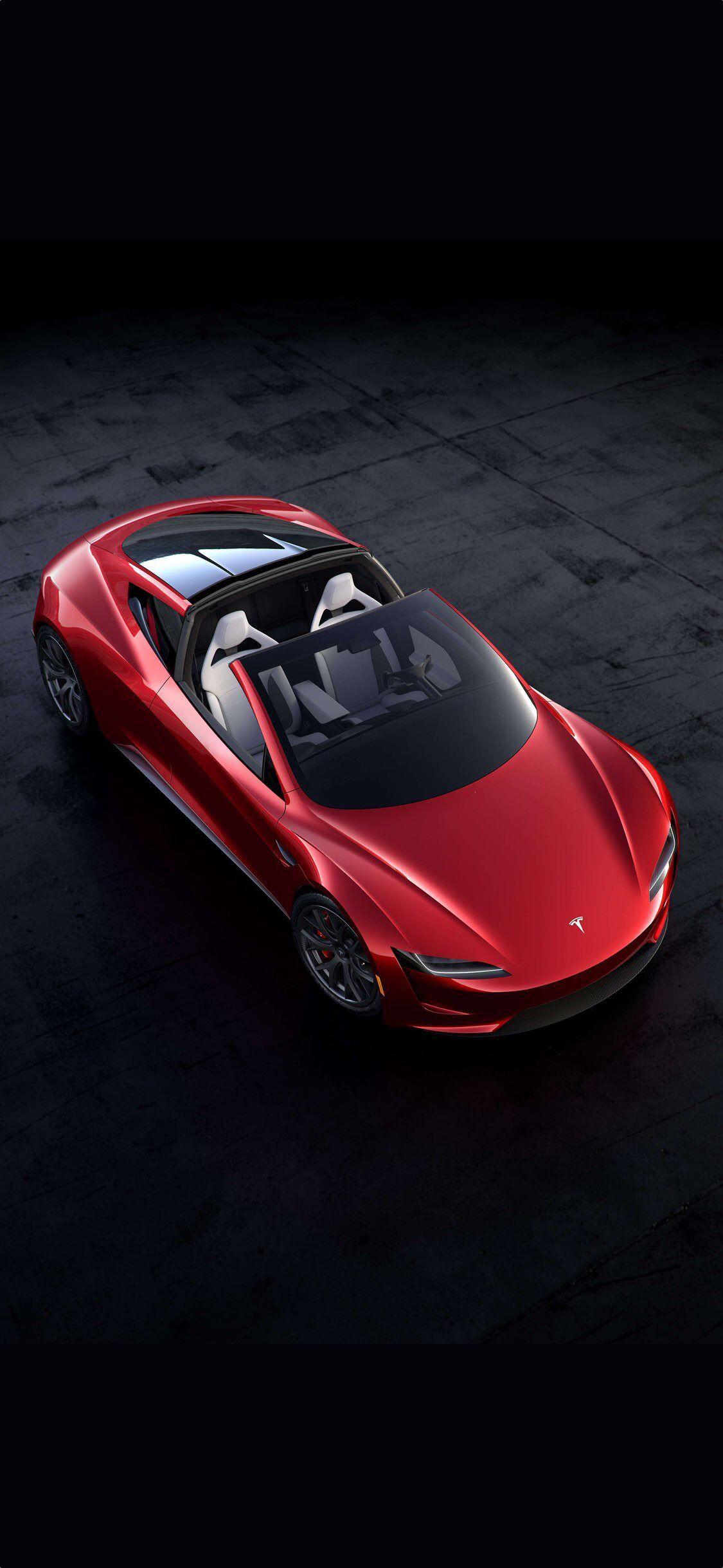 1125x2436 hình nền điện thoại Tesla Roadster