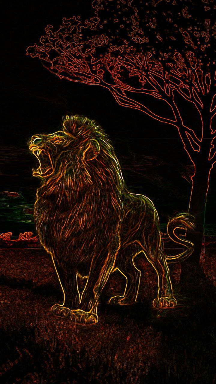 Cool Neon Lion Wallpapers Top Free Cool Neon Lion Backgrounds