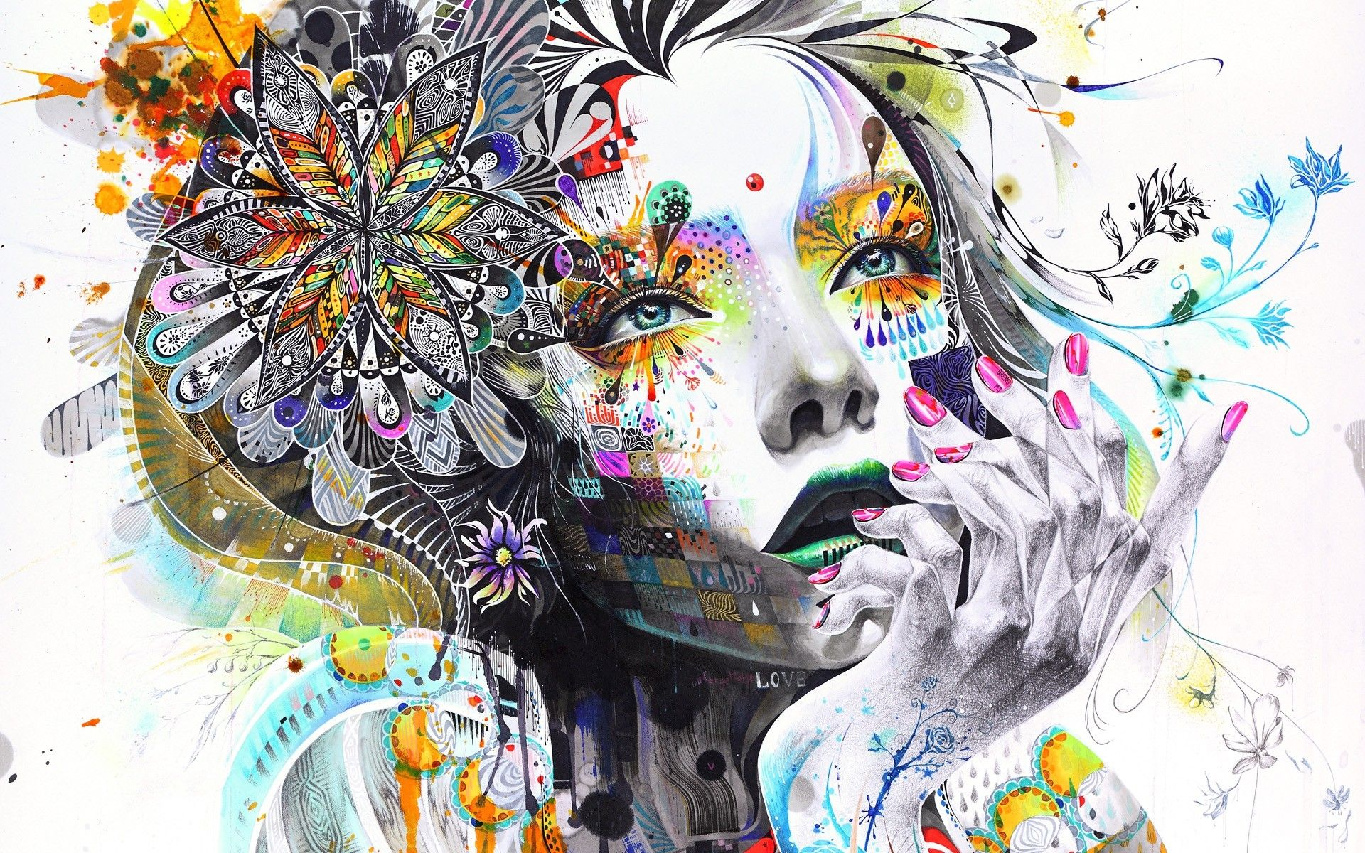 Abstract Girl Wallpapers Top Free Abstract Girl Backgrounds